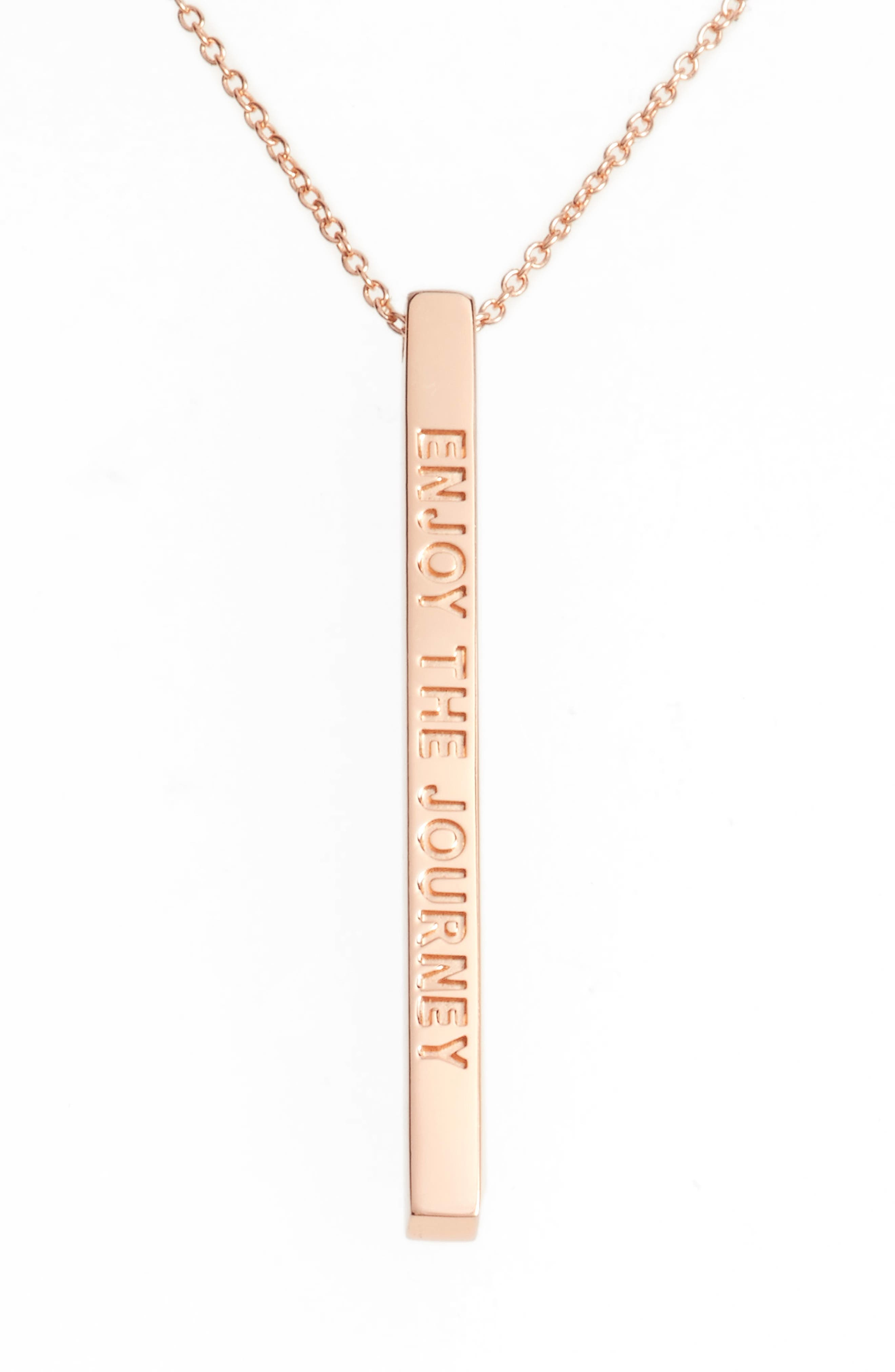 Alternate Image 1 Selected - MantraBand® Enjoy the Journey Pendant Necklace