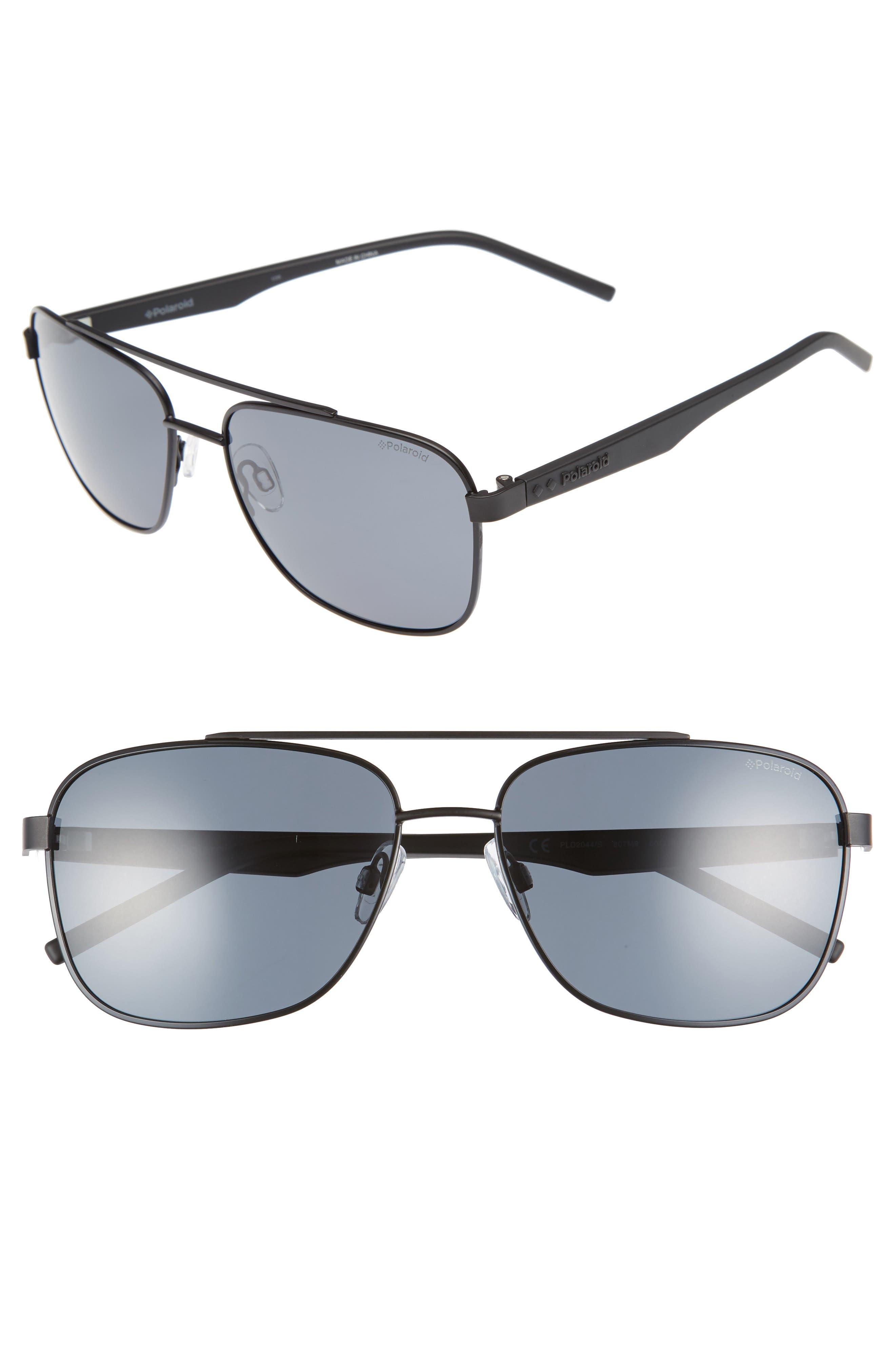 Polaroid Eyewear 60mm Polarized Navigator Sunglasses