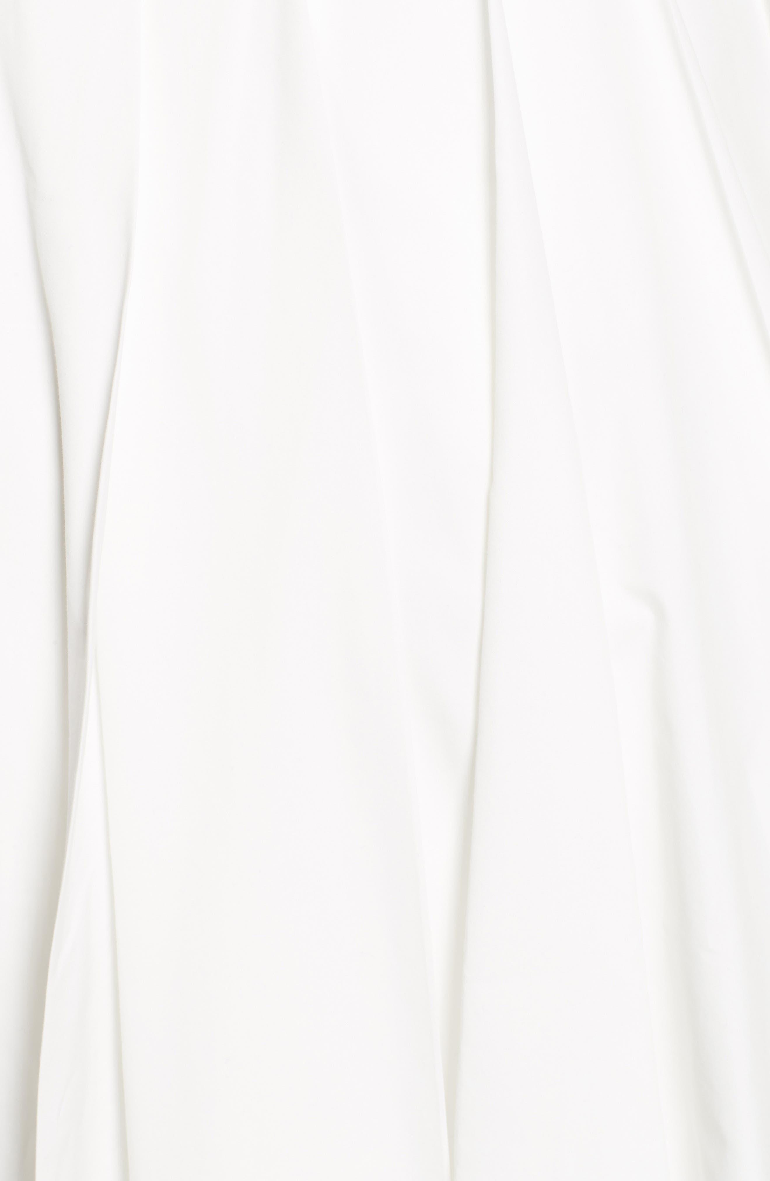 Pleated Maxi Skirt,                             Alternate thumbnail 3, color,                             White