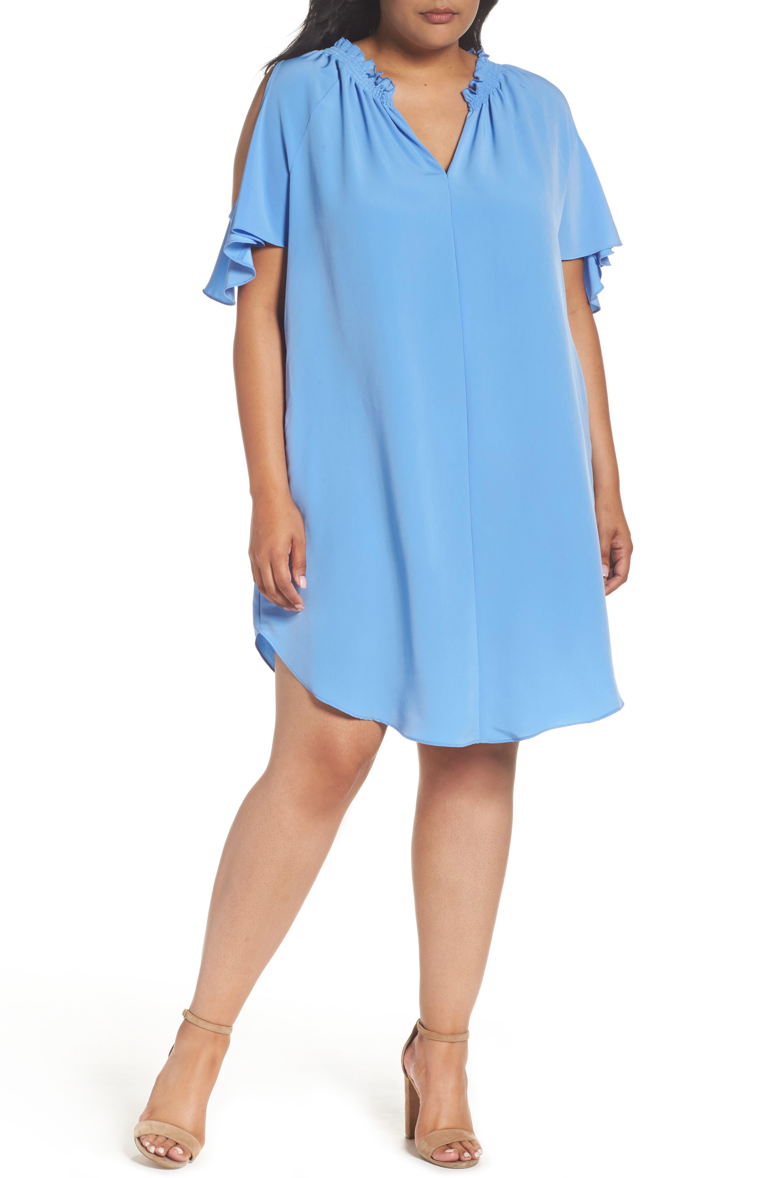 RACHEL Rachel Roy Elizabeth Cold Shoulder Dress (Plus Size)