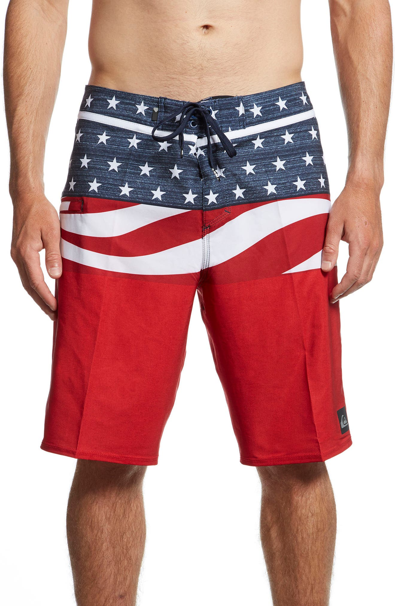 Everyday Blocked Board Shorts,                         Main,                         color, Quik Red