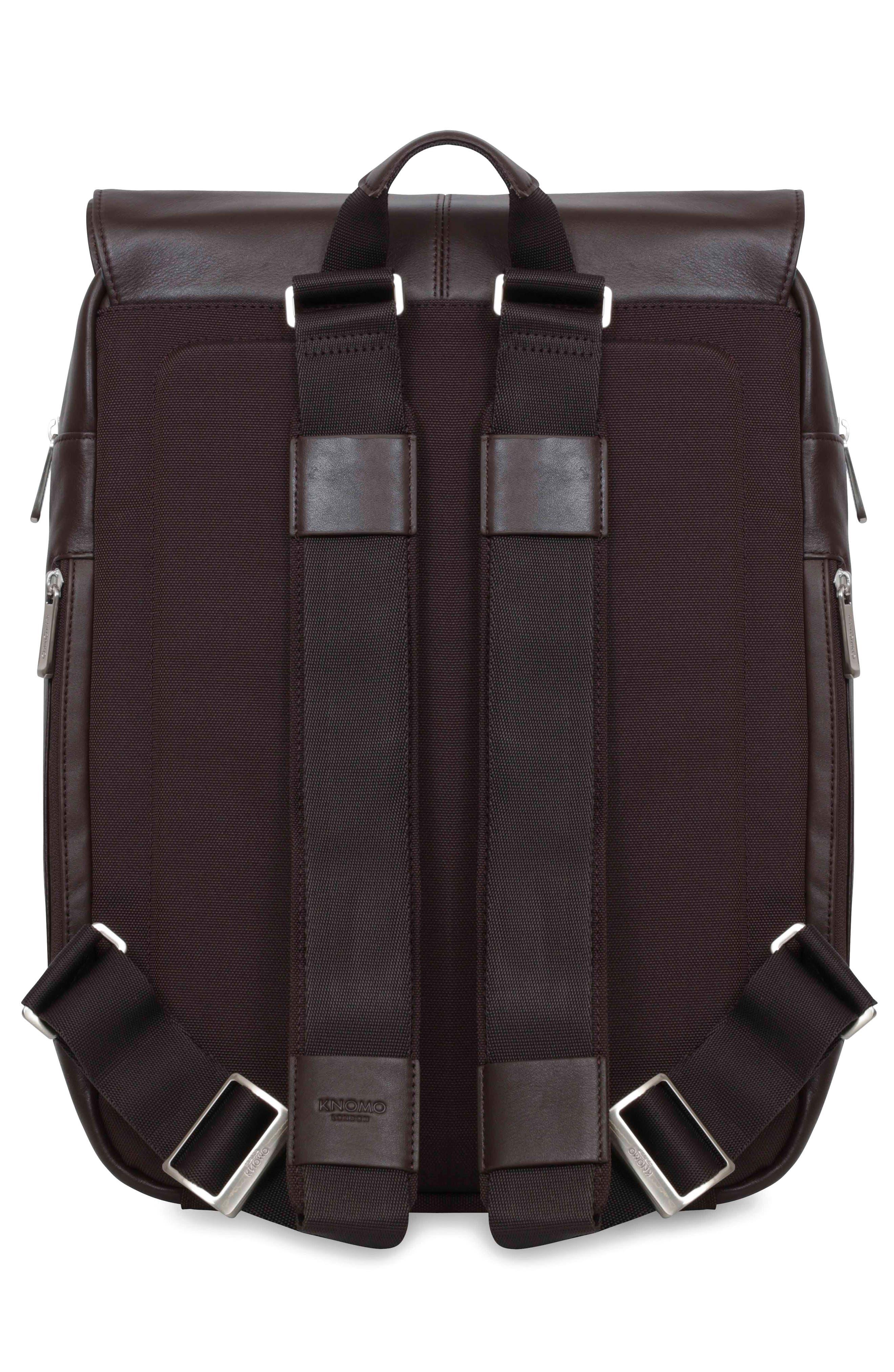 Alternate Image 2  - KNOMO London Brompton Hudson Leather Backpack