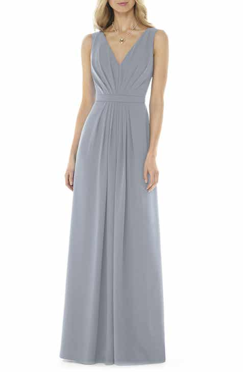47b77774e4b Social Bridesmaids V-Neck Georgette Gown