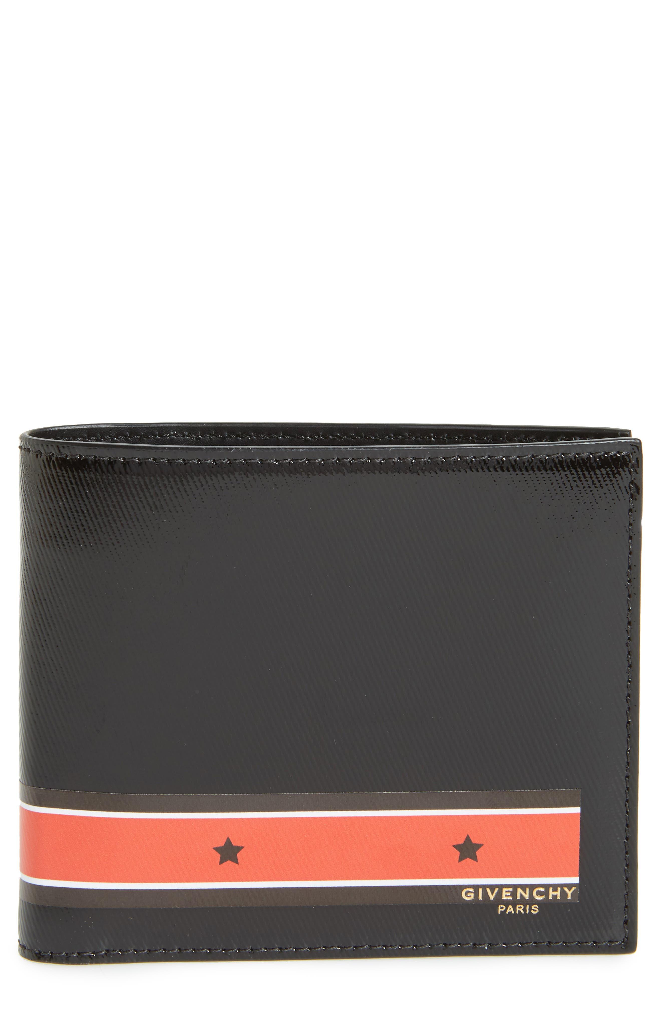 Billfold Wallet,                         Main,                         color, Black/ Red