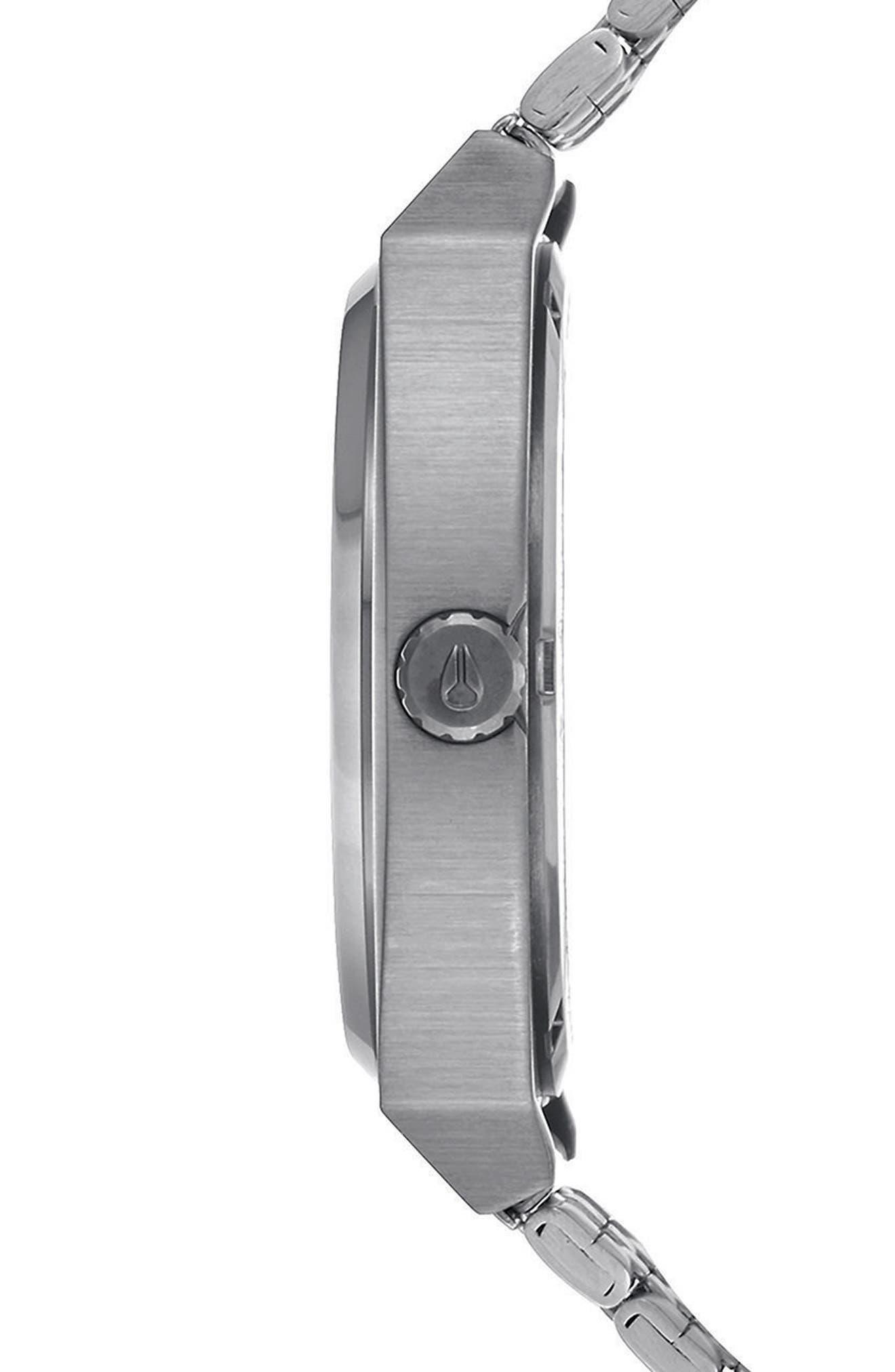 Time Teller Bracelet Watch, 37mm,                             Alternate thumbnail 3, color,                             Silver/ Wood/ Silver