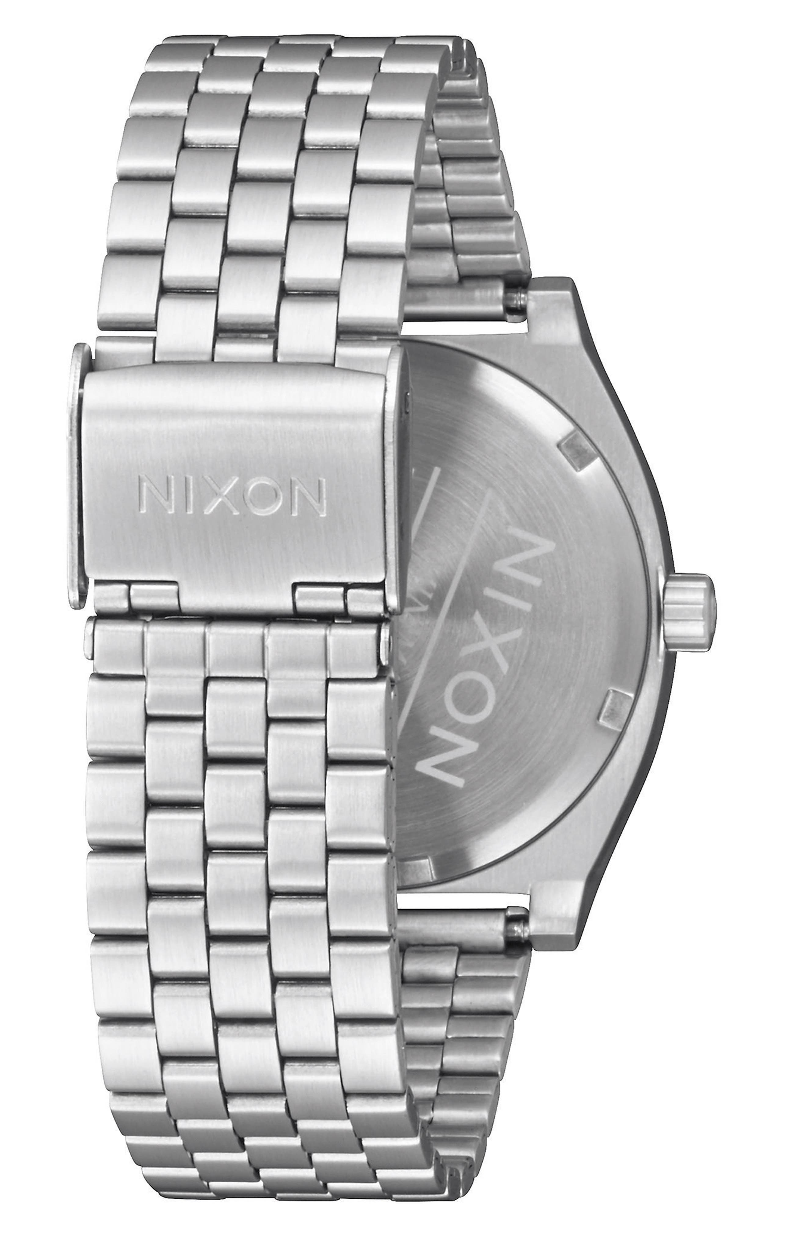 Time Teller Bracelet Watch, 37mm,                             Alternate thumbnail 2, color,                             Silver/ Wood/ Silver