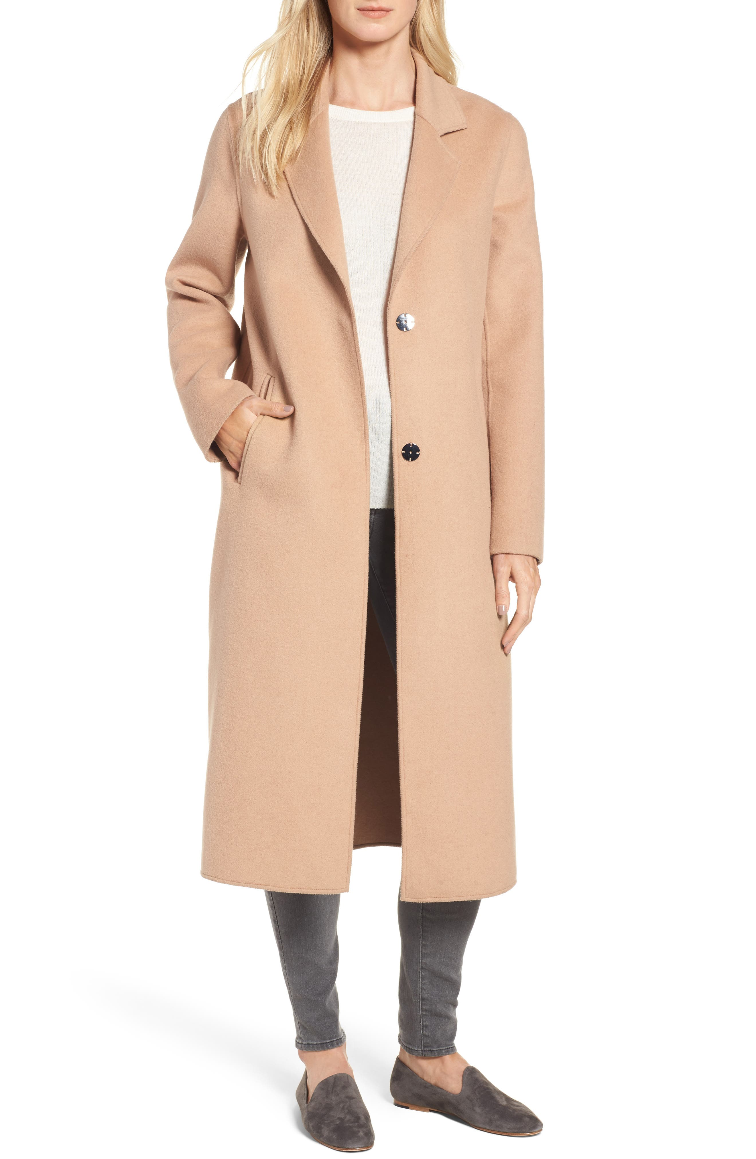 Alternate Image 1 Selected - Kenneth Cole New York Double Face Wool Blend Long Coat