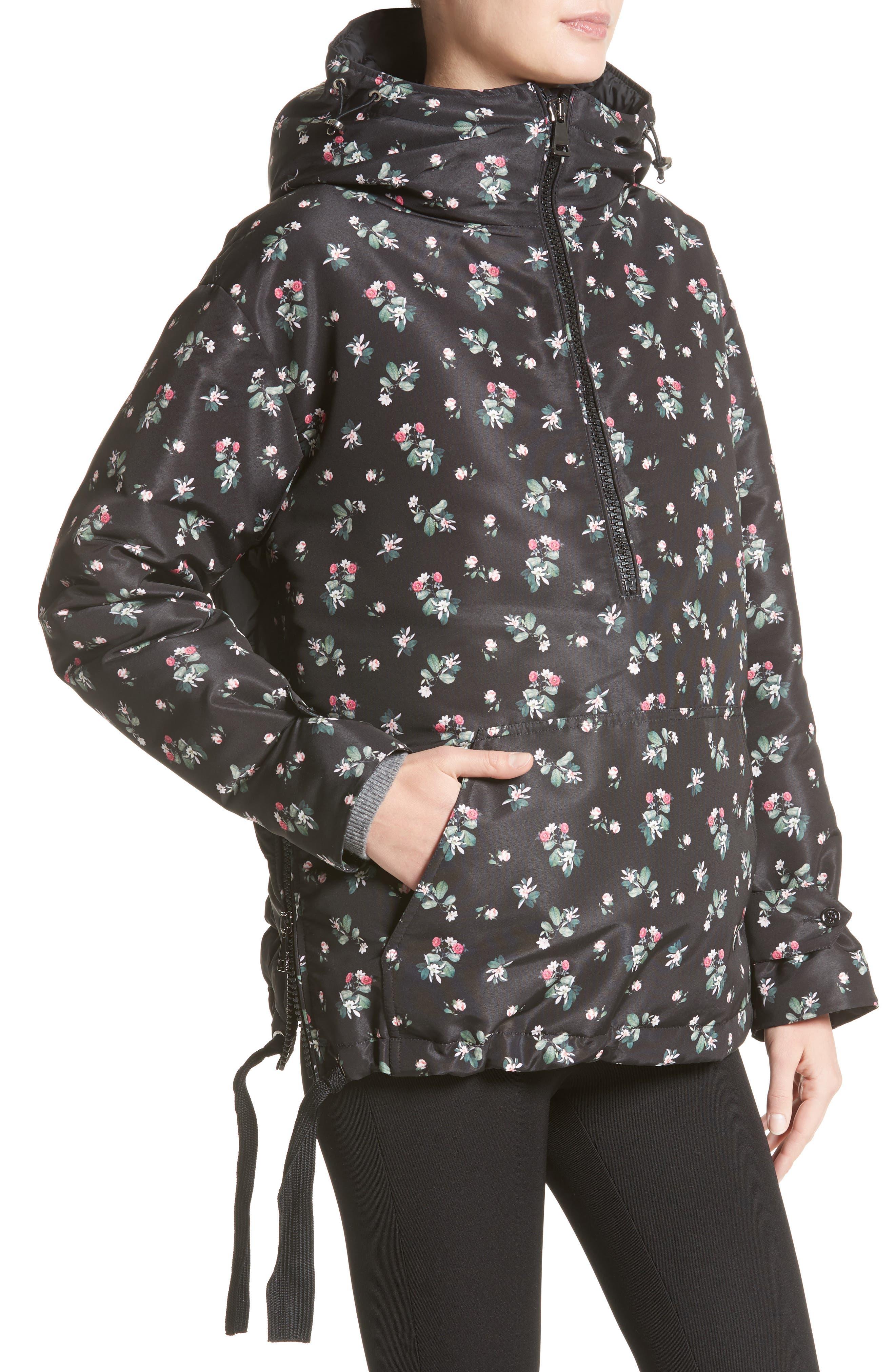 Alternate Image 4  - Moncler Mirtus Floral Print Down Jacket