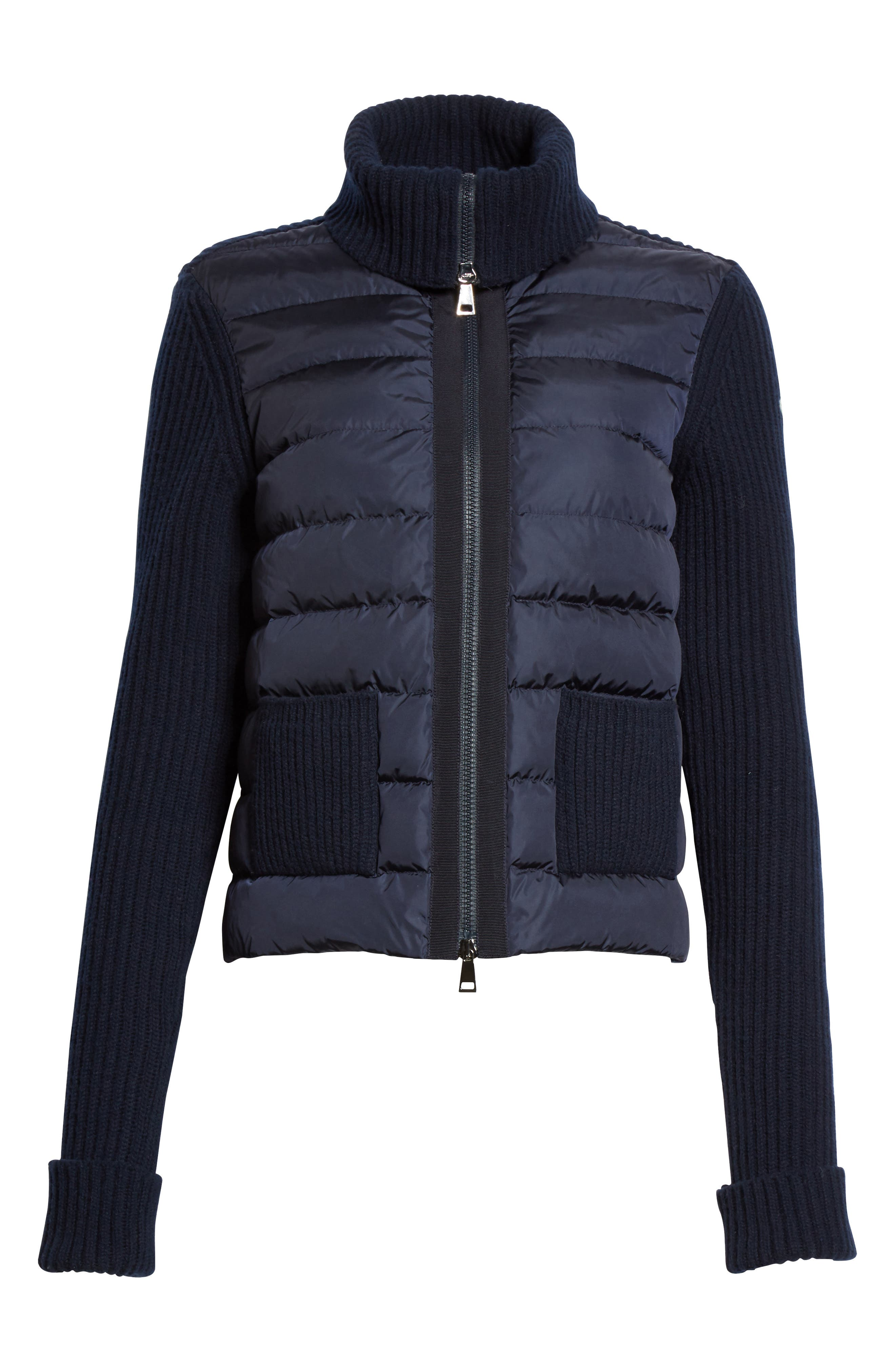 Alternate Image 6  - Moncler Ciclista Quilted Down Front Sweater Jacket