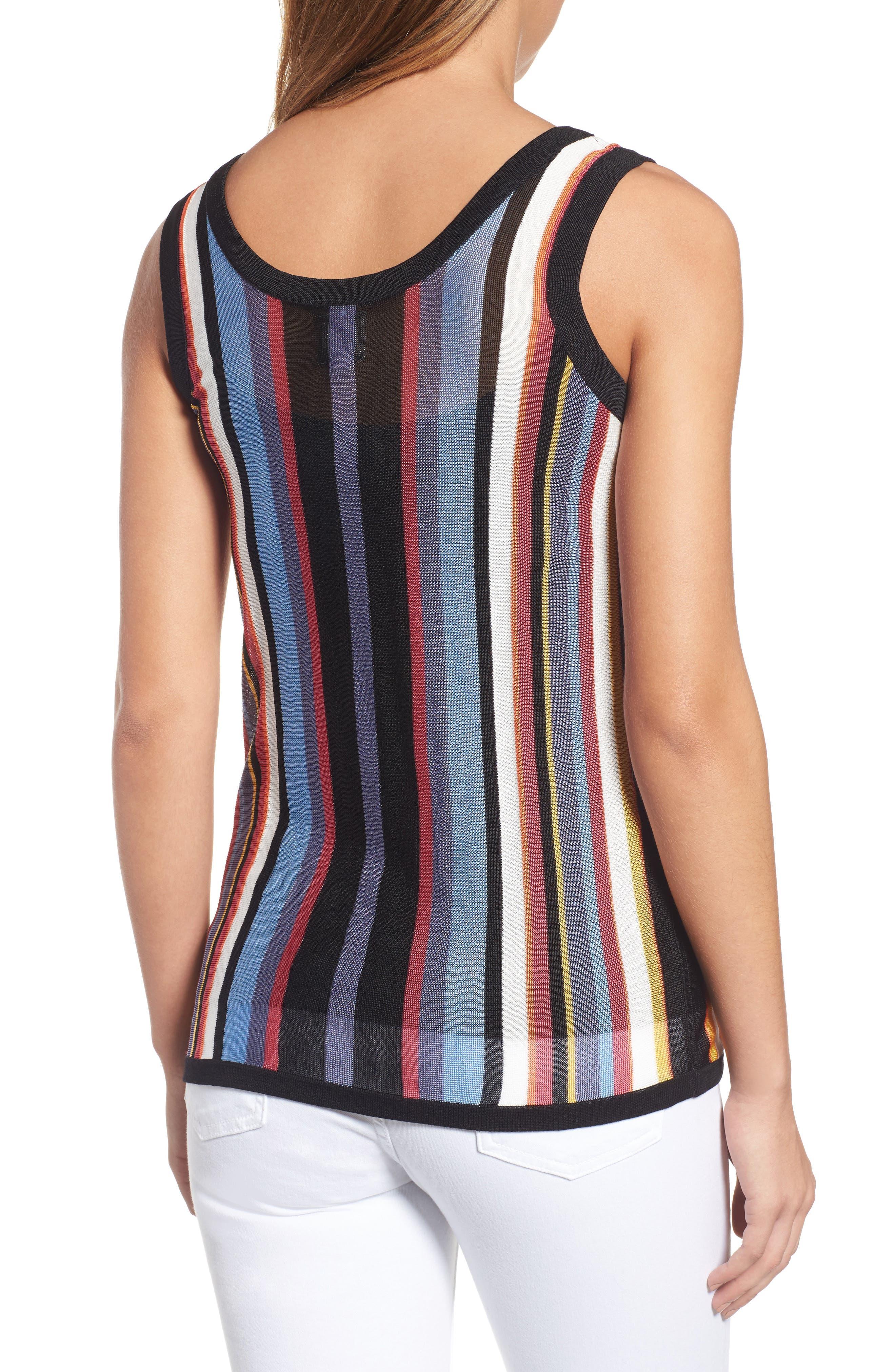 Stripe Sweater Tank,                             Alternate thumbnail 2, color,                             Eton Blue Combo