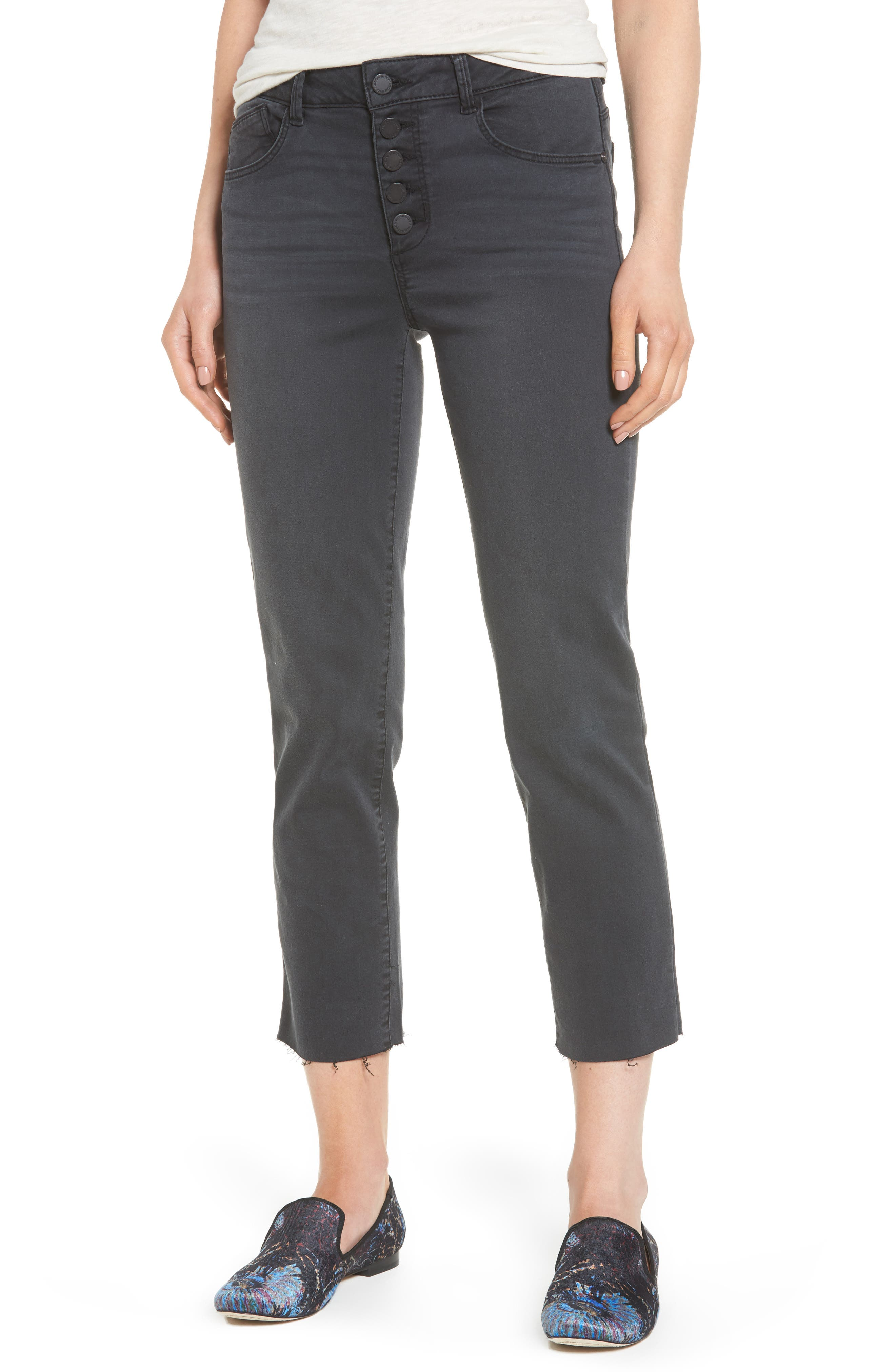 Wit & Wisdom Button Fly Crop Jeans (Regular & Petite) (Nordstrom Exclusive)