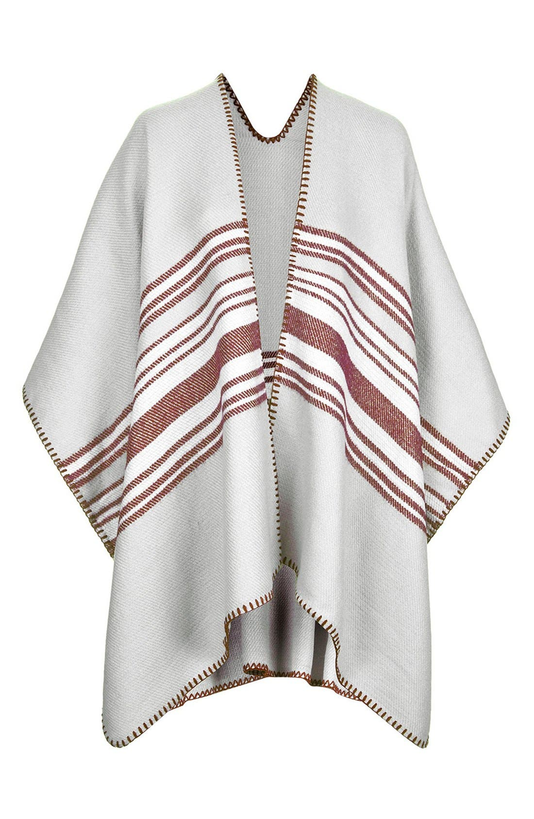 Alternate Image 1 Selected - Topshop Stripe Blanket Cape