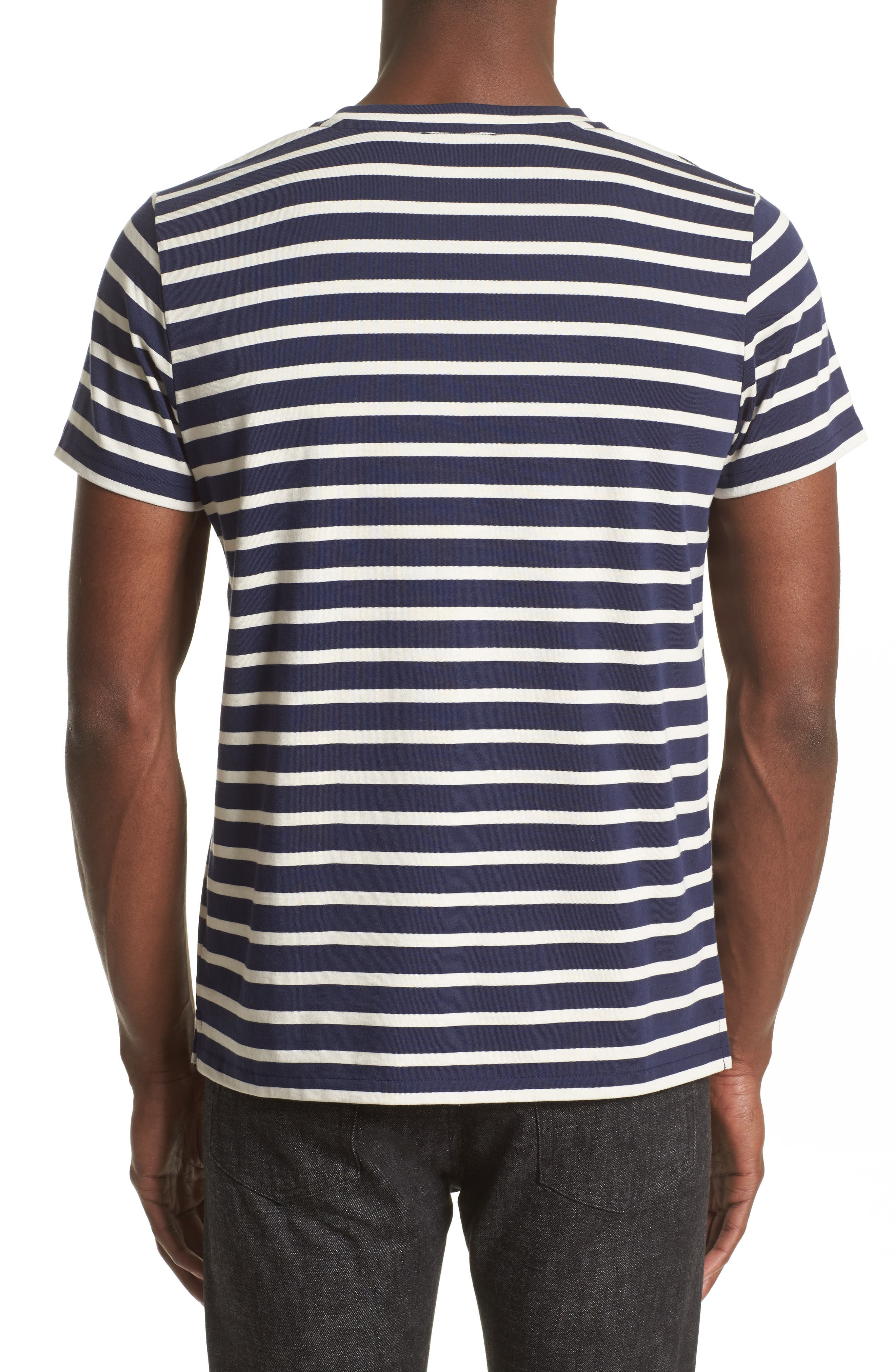 Alternate Image 2  - A.P.C. Stripe Pocket T-Shirt