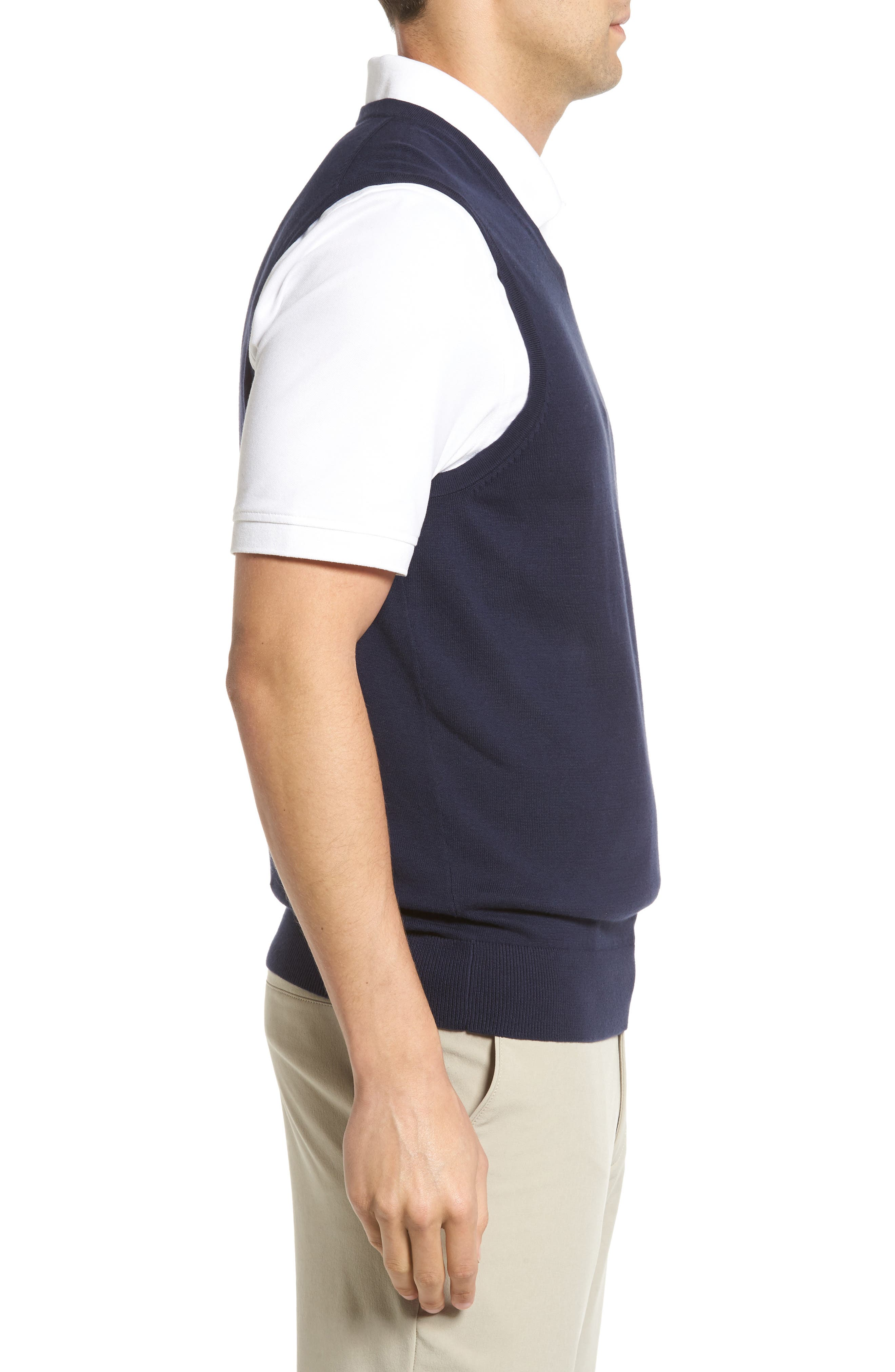 Lakemont V-Neck Sweater Vest,                             Alternate thumbnail 3, color,                             Liberty Navy