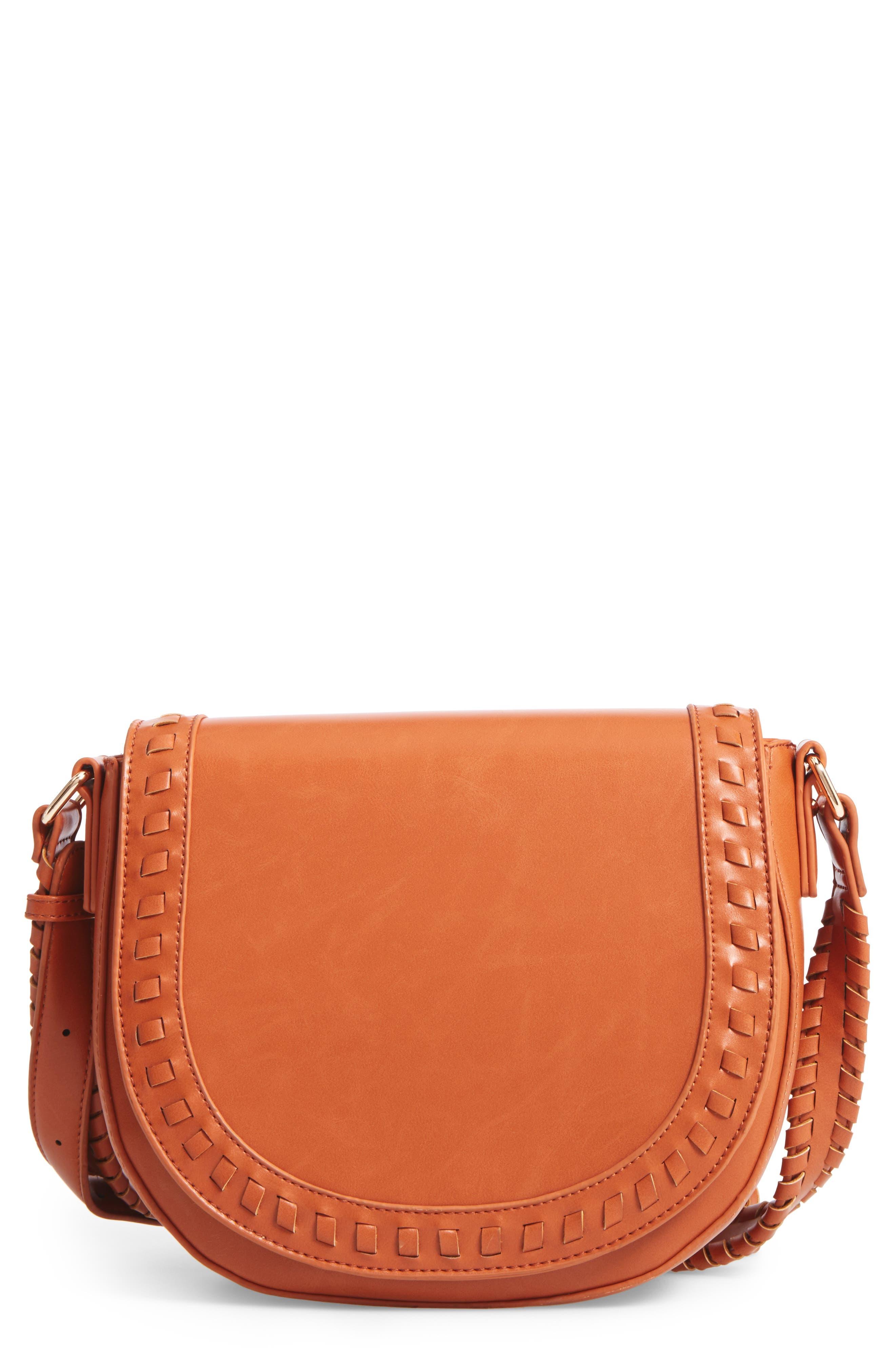 Sole Society Clovey Faux Leather Saddlebag