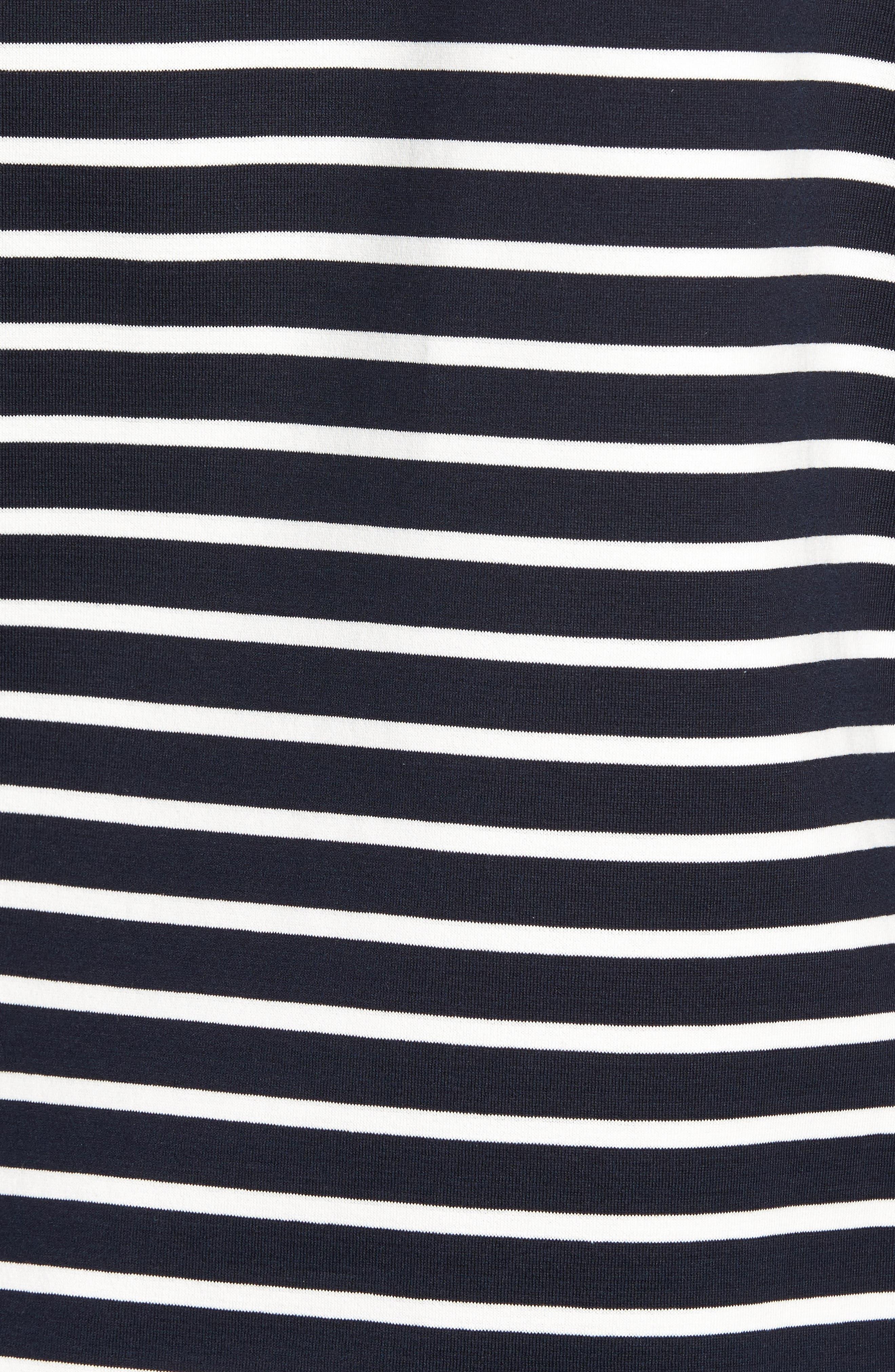 Alternate Image 5  - Nordstrom Signature Side Zip Stripe Sweatshirt