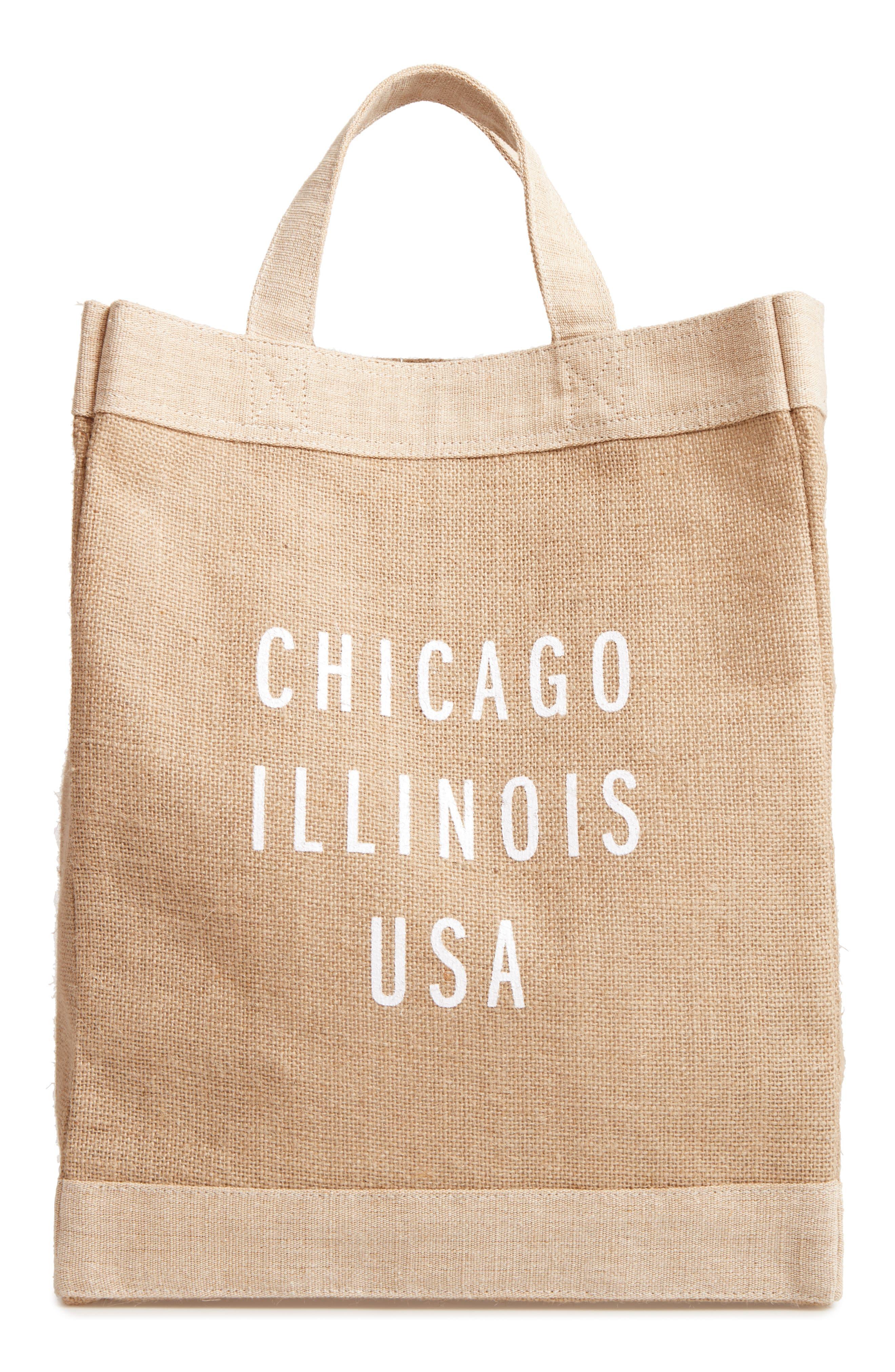 Chicago Simple Market Bag,                             Main thumbnail 1, color,                             Natural