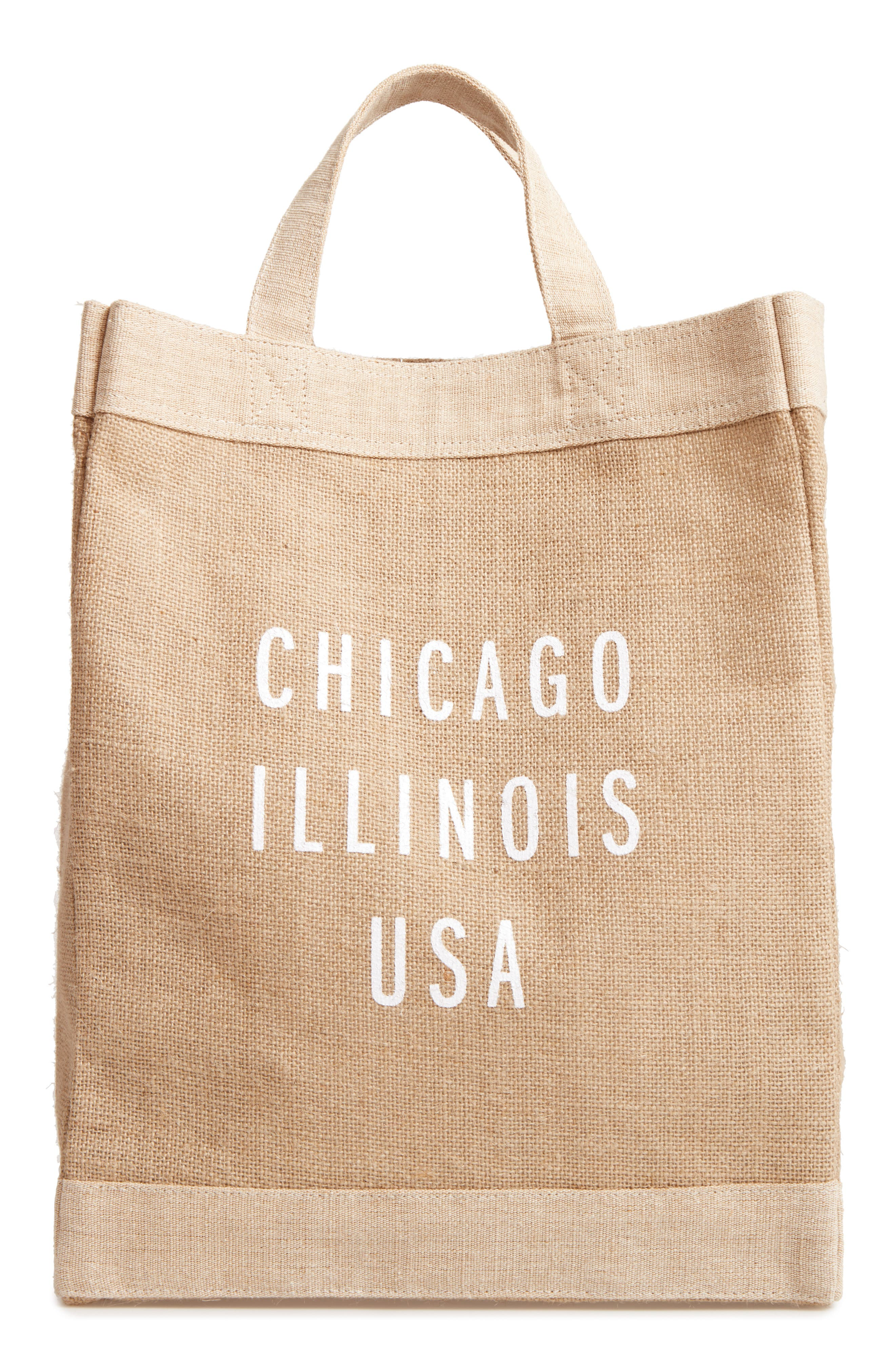 Chicago Simple Market Bag,                         Main,                         color, Natural