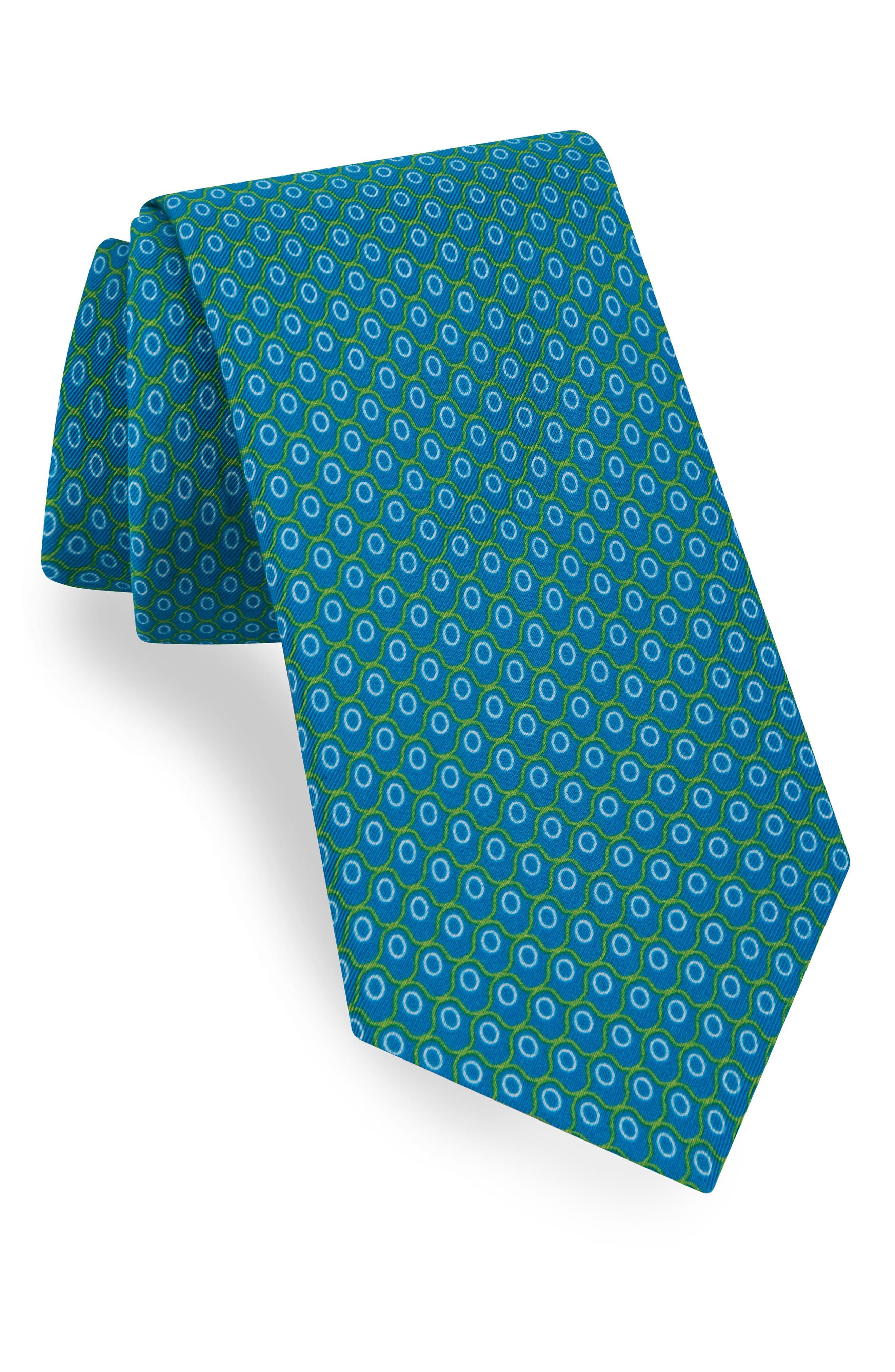 Ted Baker London Geometric Cotton & Silk Tie