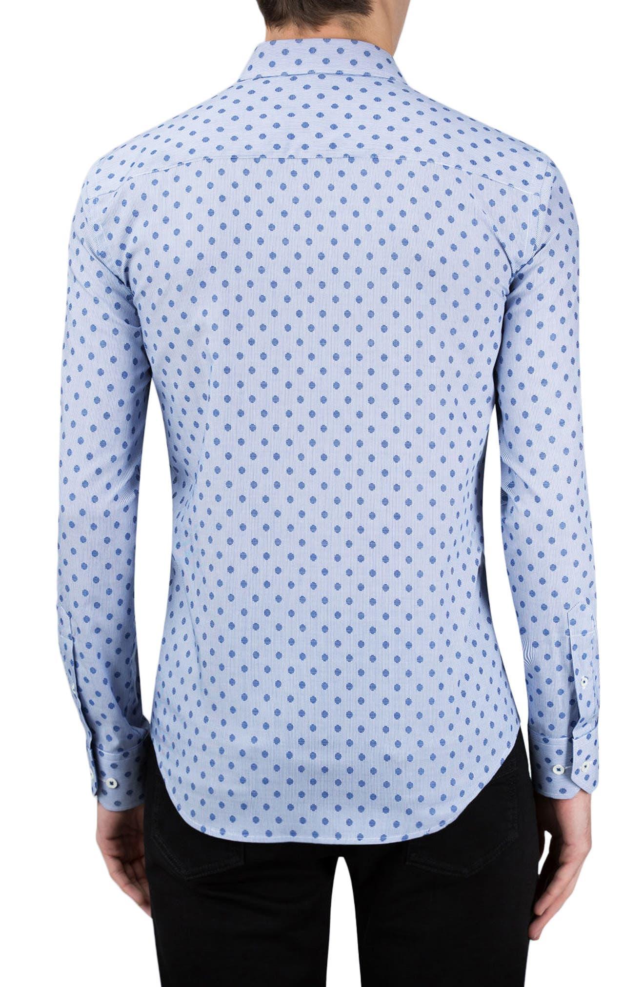 Alternate Image 2  - Bugatchi Classic Fit Dotted Sport Shirt