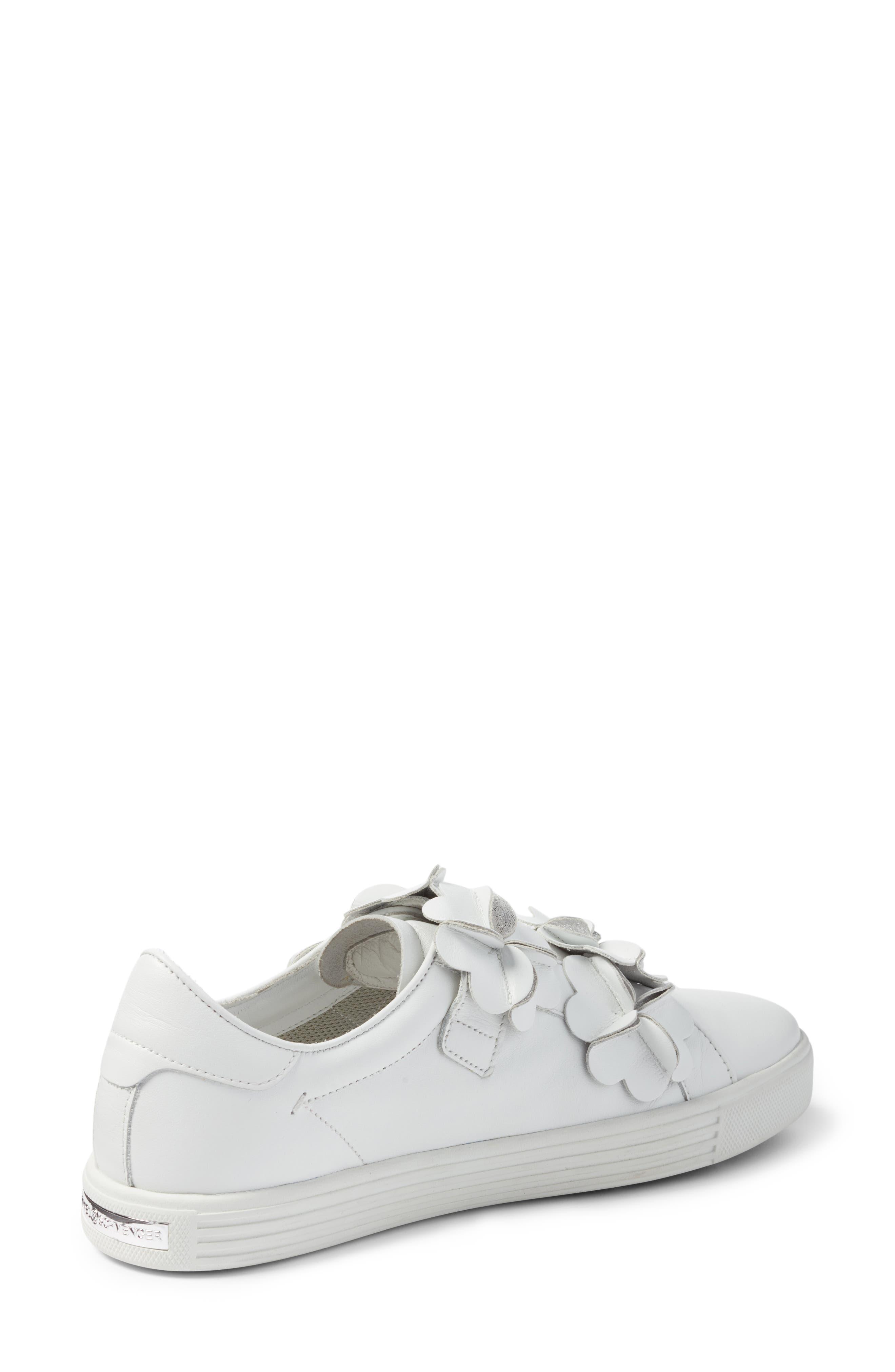 Kennel & Schmenger Town Floral Embellished Sneaker,                             Alternate thumbnail 2, color,                             White/ Silver