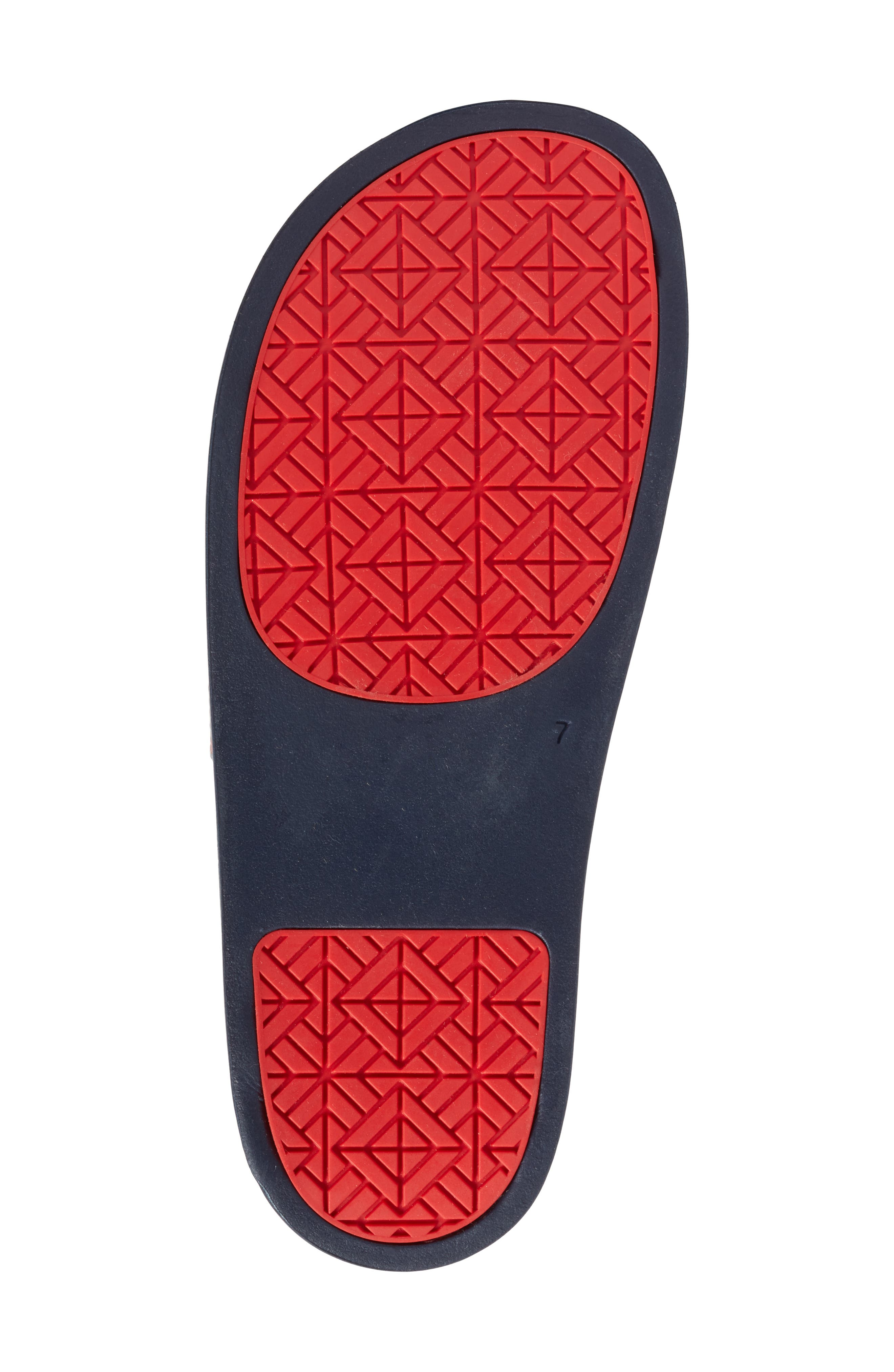 Stormy Slide Sandal,                             Alternate thumbnail 6, color,                             Tory Navy/ Tory Red