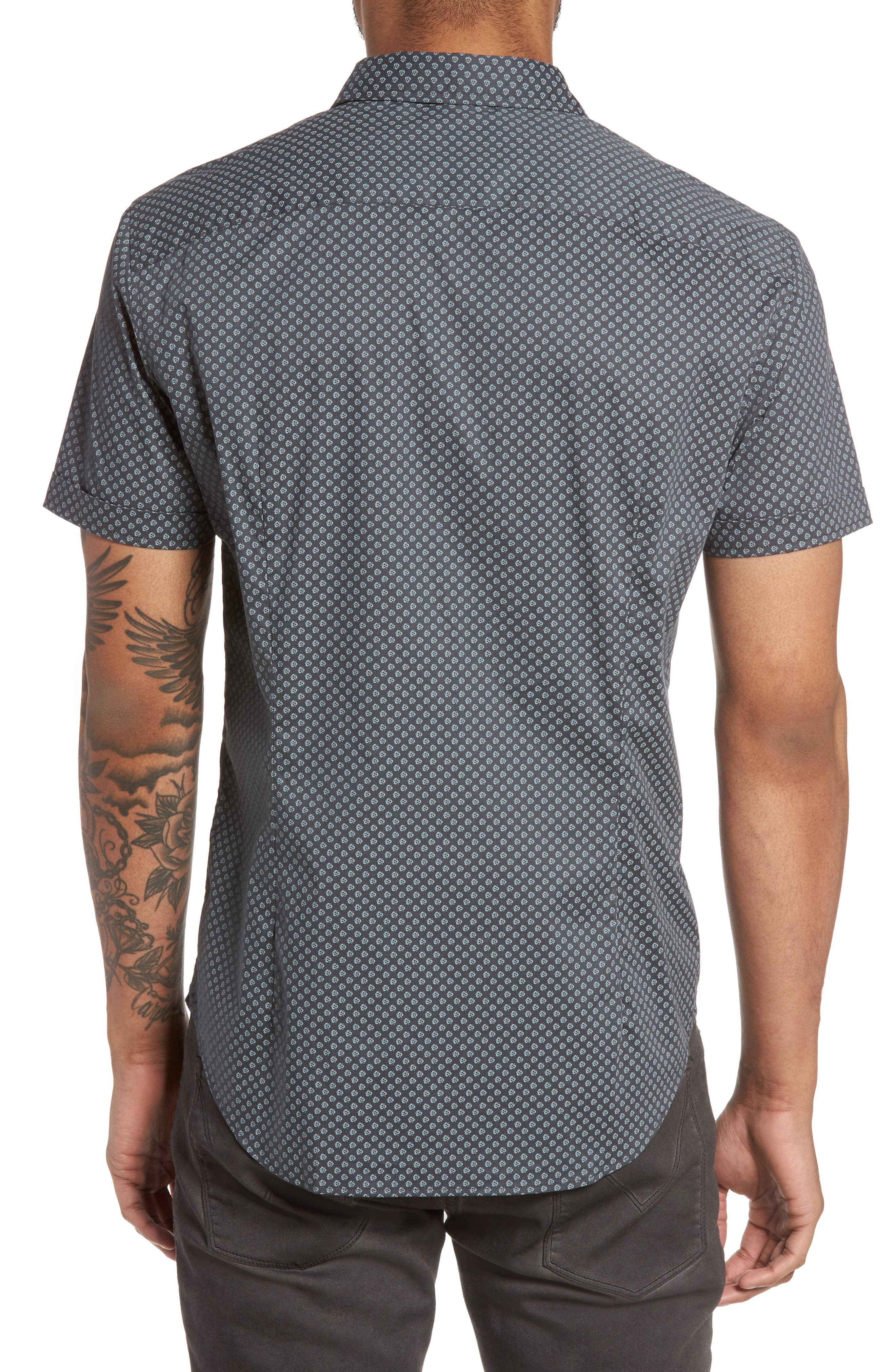 Alternate Image 2  - John Varvatos Star USA Trim Fit Print Sport Shirt