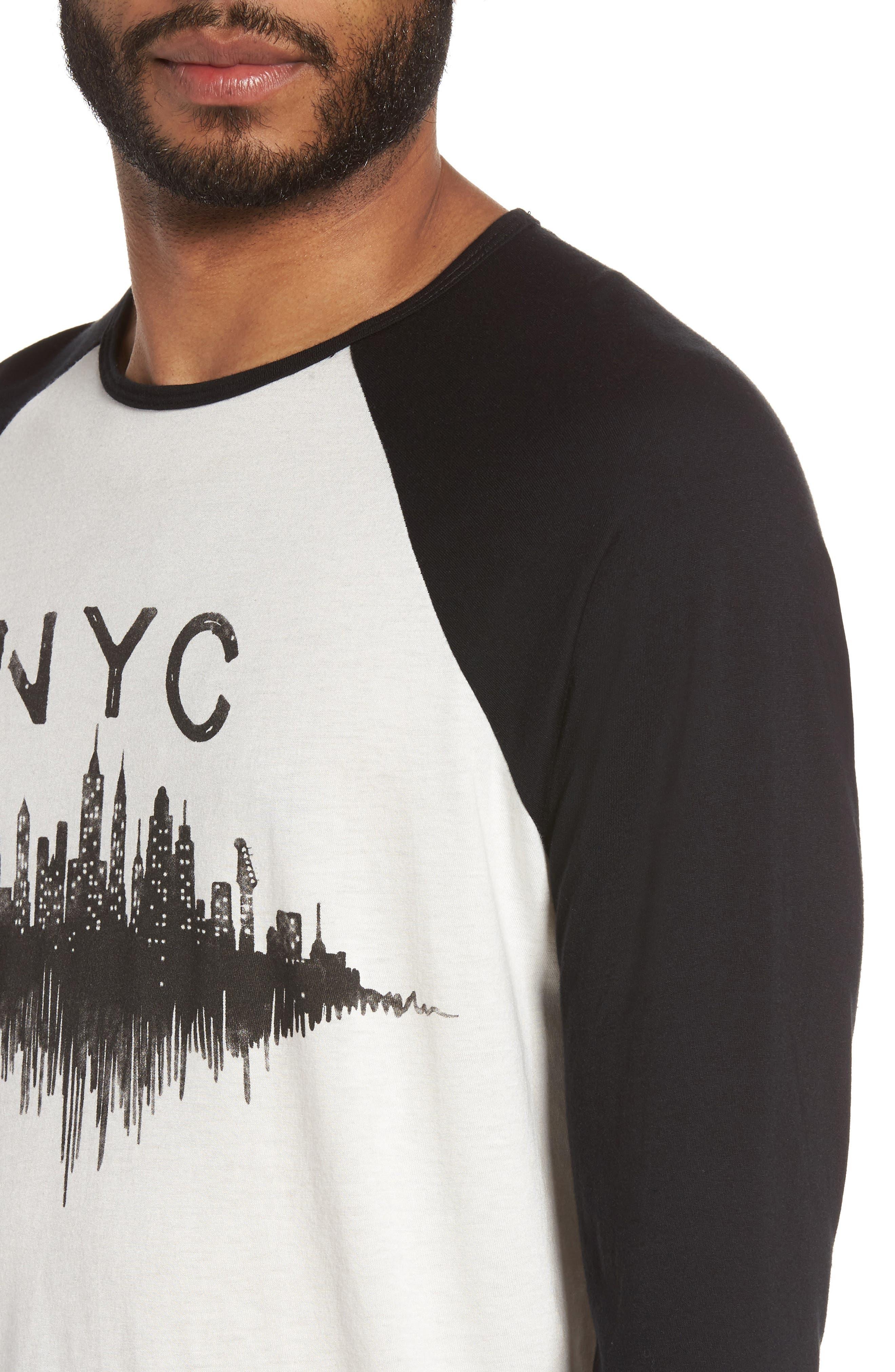 Alternate Image 4  - John Varvatos Star USA NYC Graphic Raglan Sleeve T-Shirt