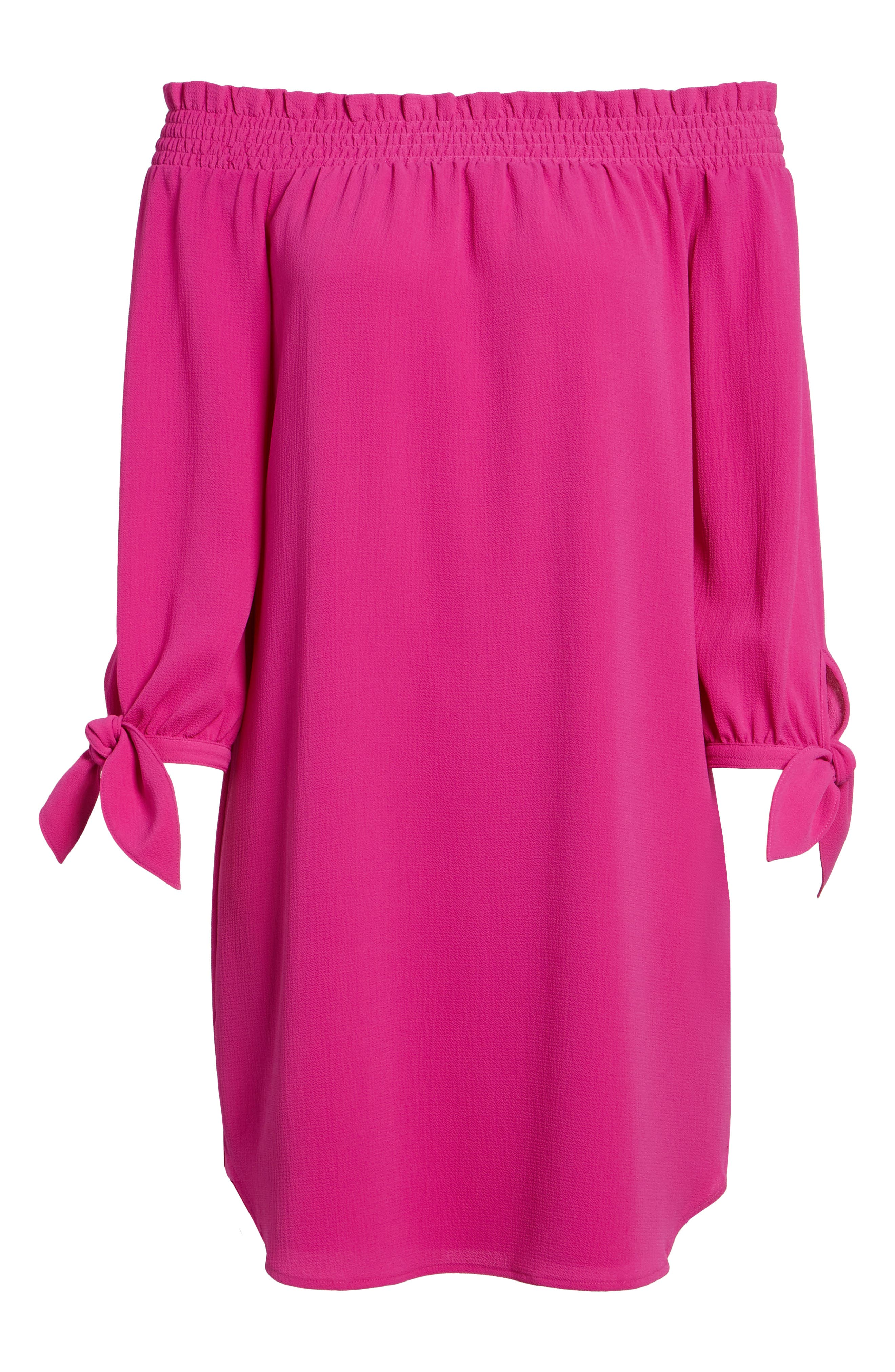 Alternate Image 7  - Vince Camuto Stretch Crepe Shift Dress (Regular & Petite)