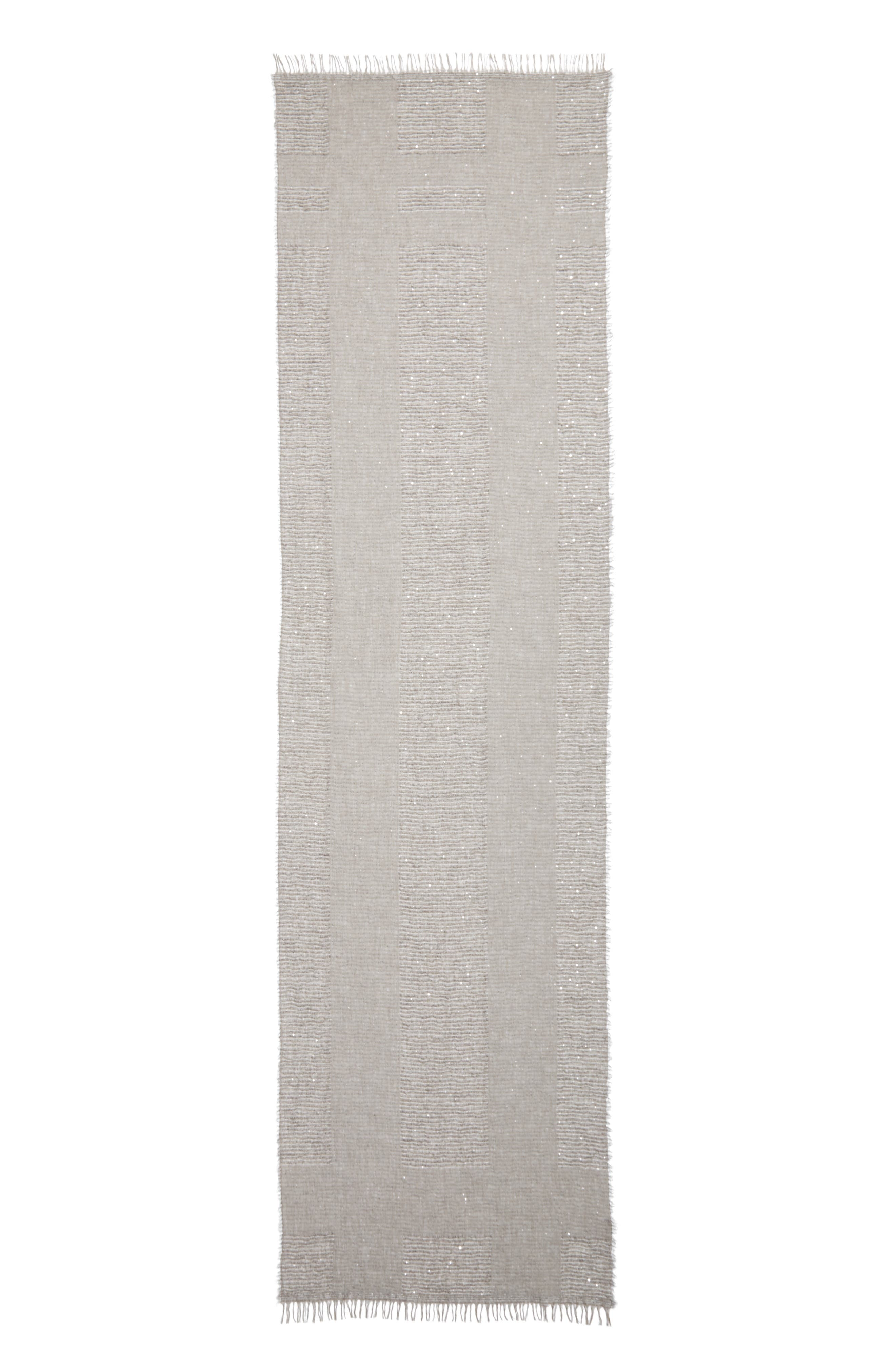 Fringed Modal Blend Scarf,                             Main thumbnail 1, color,                             Grey / Taupe