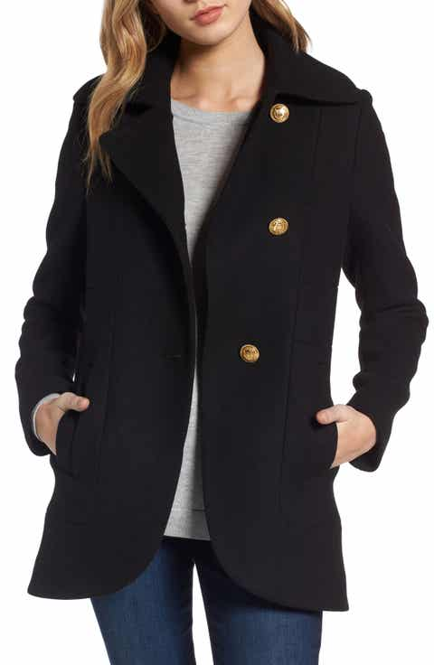 Short Black Pea Coat Womens - Tradingbasis