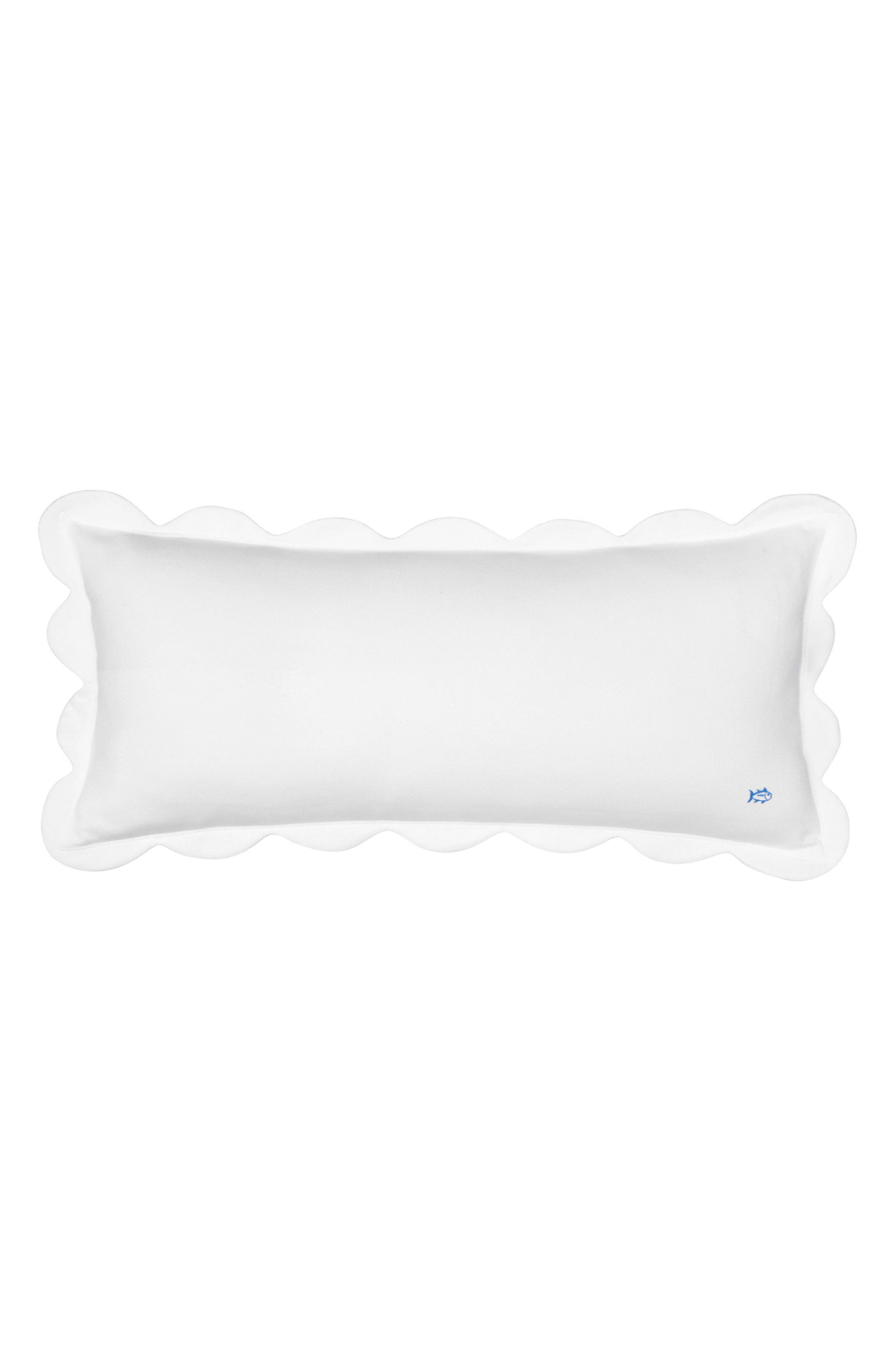 Sailgate Scalloped Accent Pillow,                             Main thumbnail 1, color,                             White
