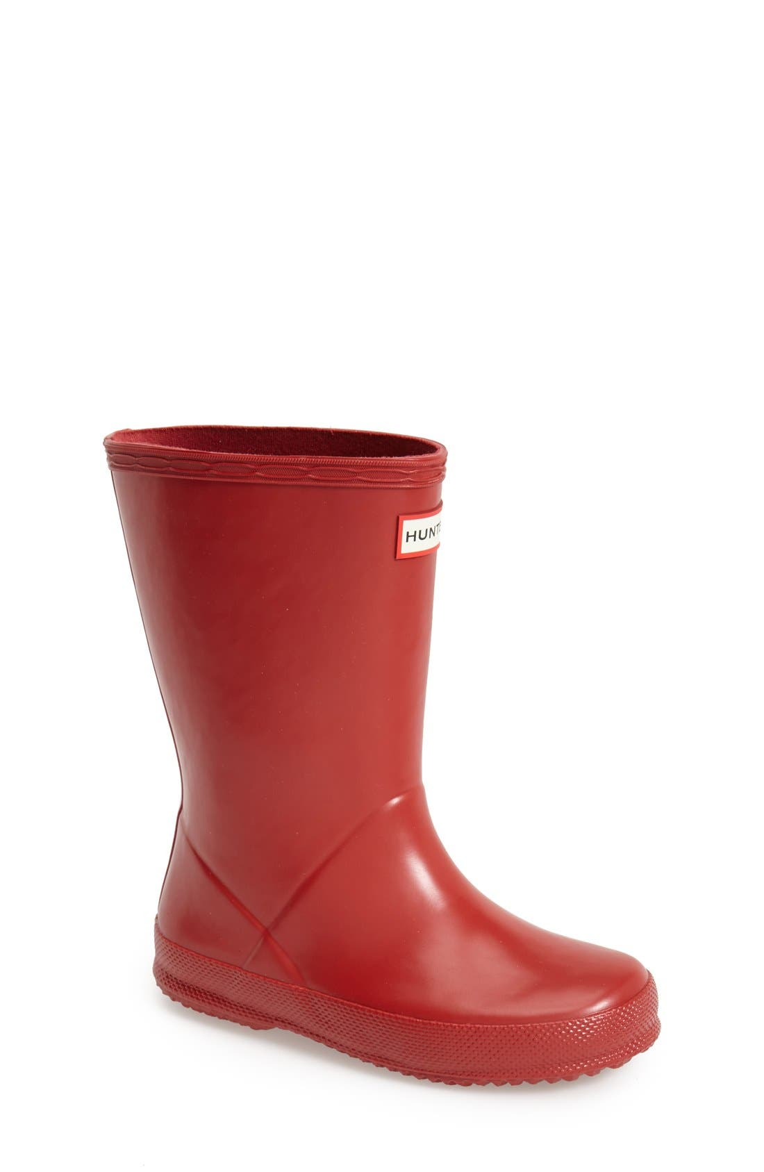 'First Classic' Rain Boot,                             Main thumbnail 1, color,                             Military Red