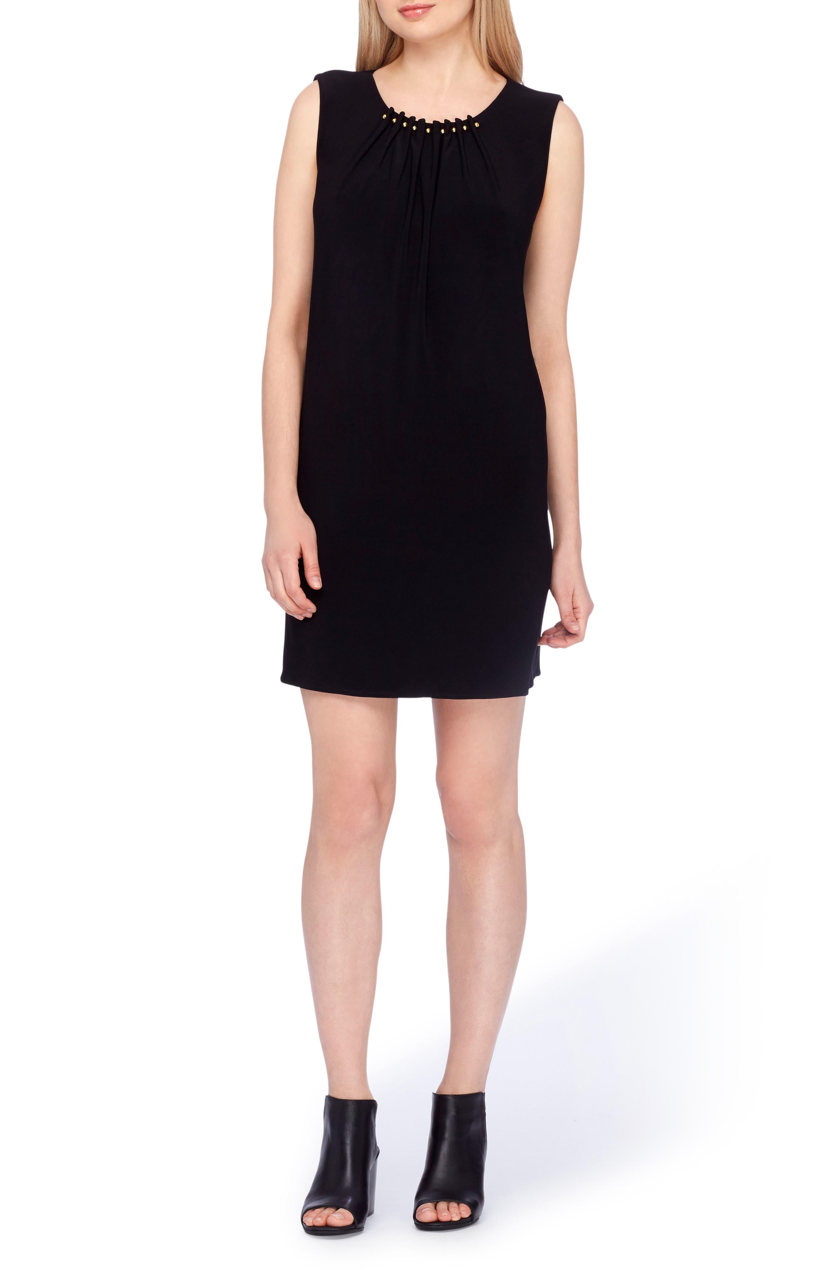 Embellished Sheath Dress,                             Main thumbnail 1, color,                             Black