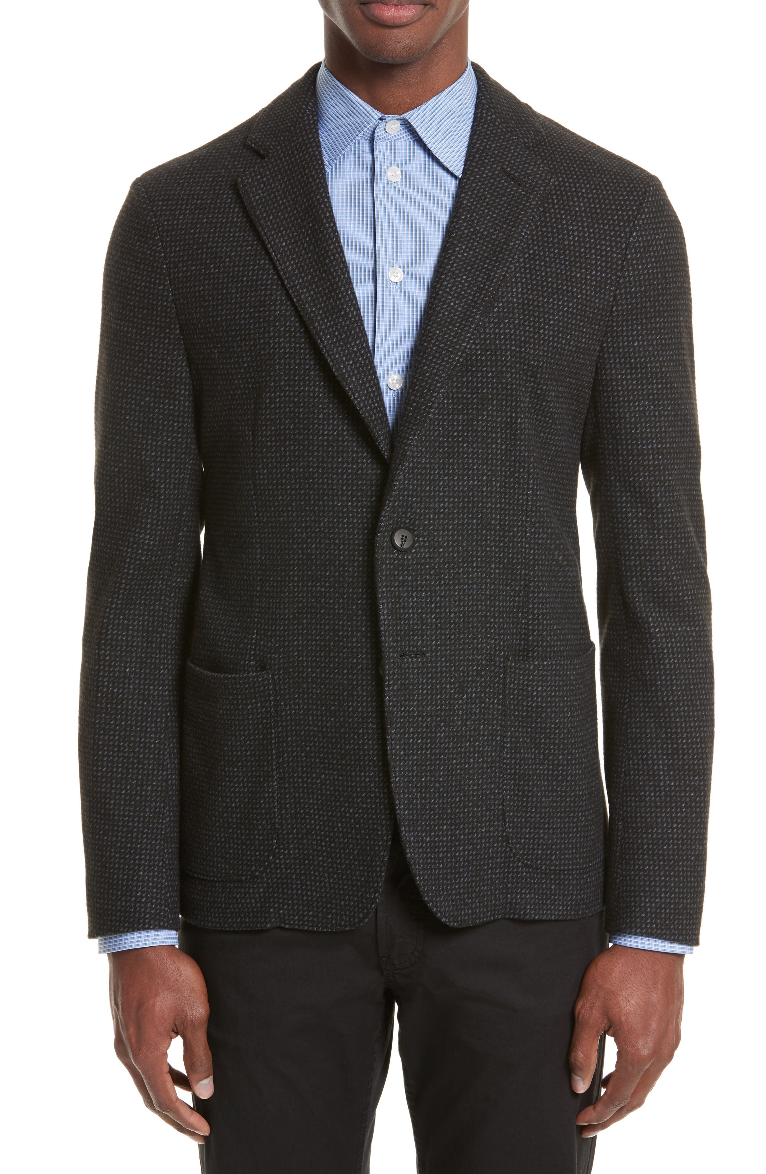 Alternate Image 1 Selected - Emporio Armani Techno Jersey Jacket