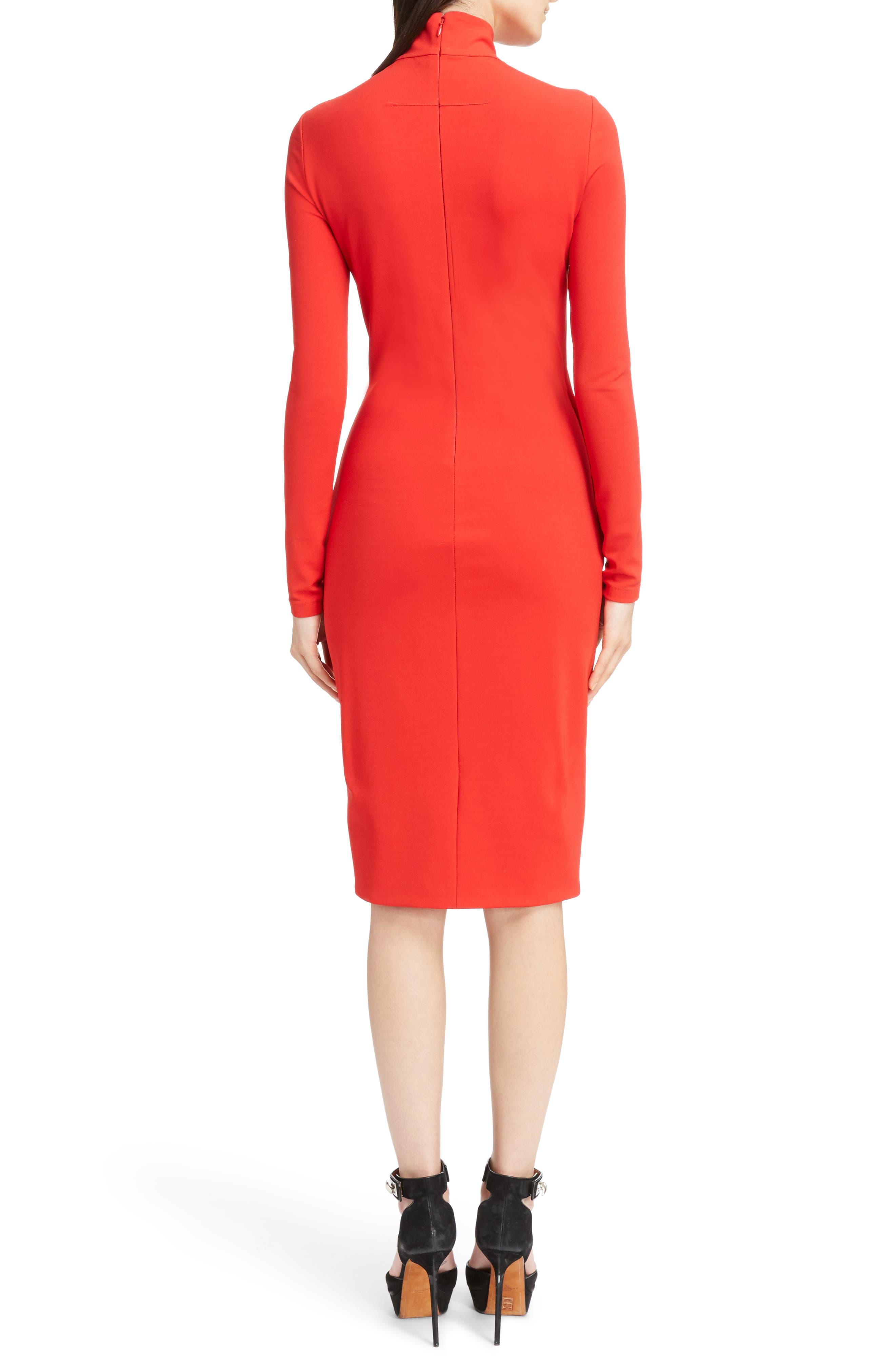 Alternate Image 2  - Givenchy Jersey Turtleneck Tulip Hem Dress