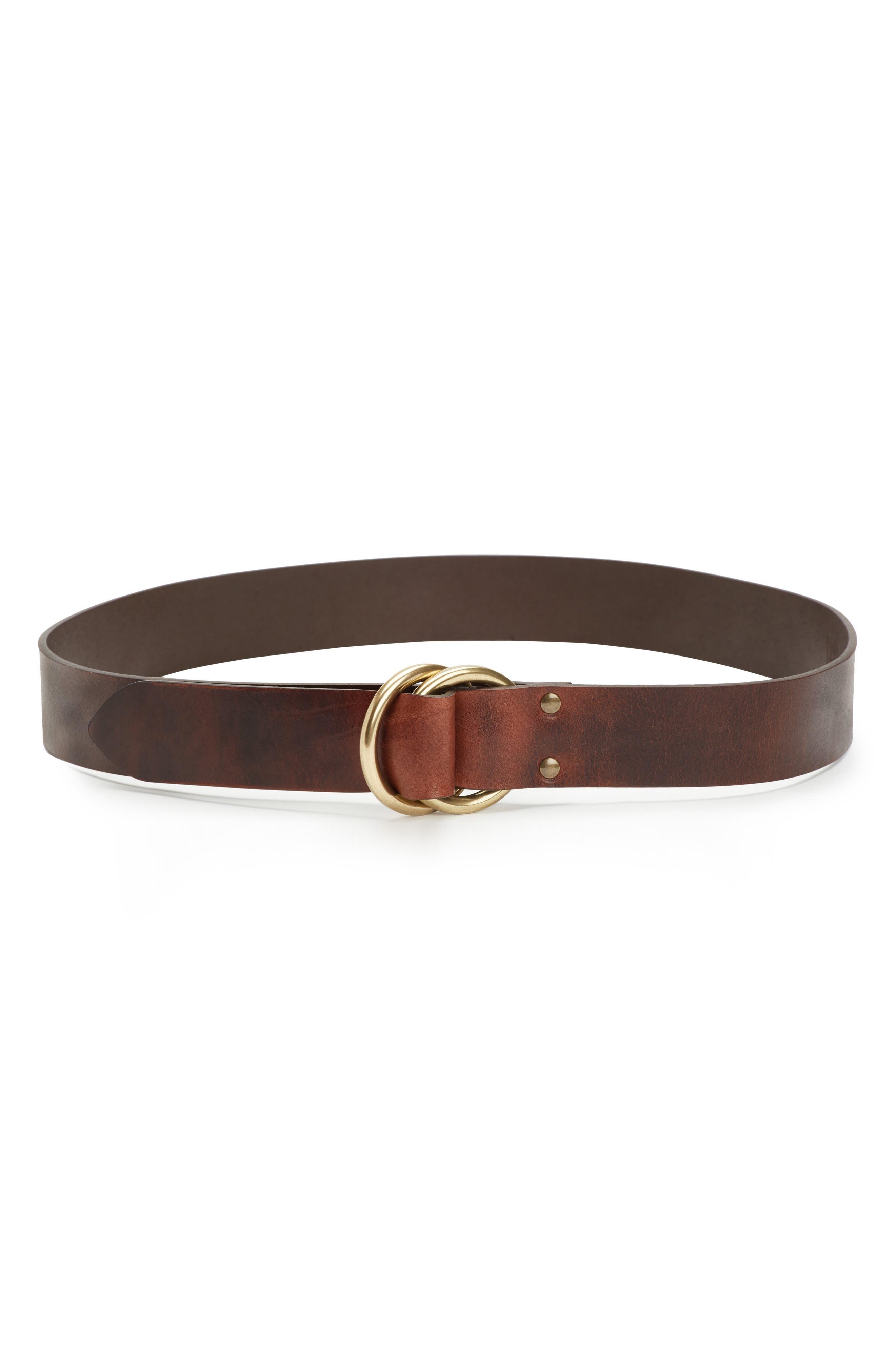 Harness Leather Belt,                         Main,                         color, Cognac