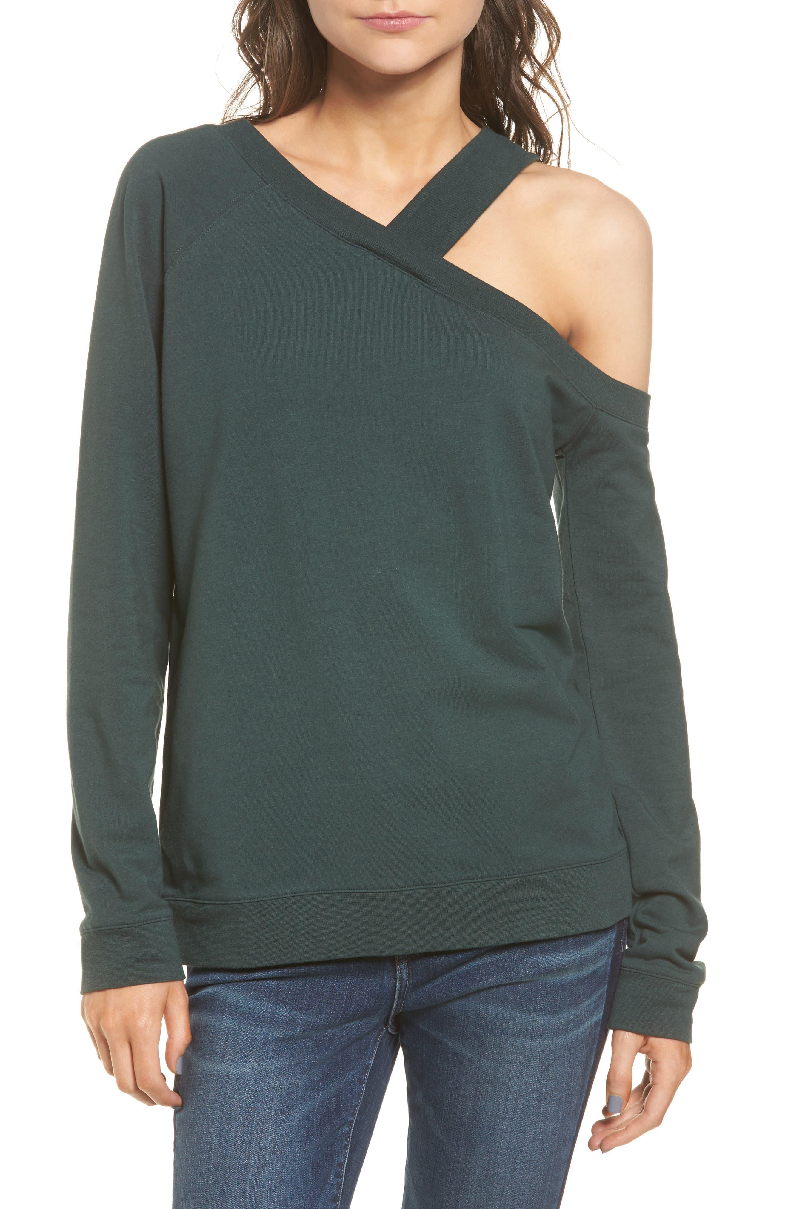 Alternate Image 1 Selected - Treasure & Bond Asymmetrical Sweatshirt