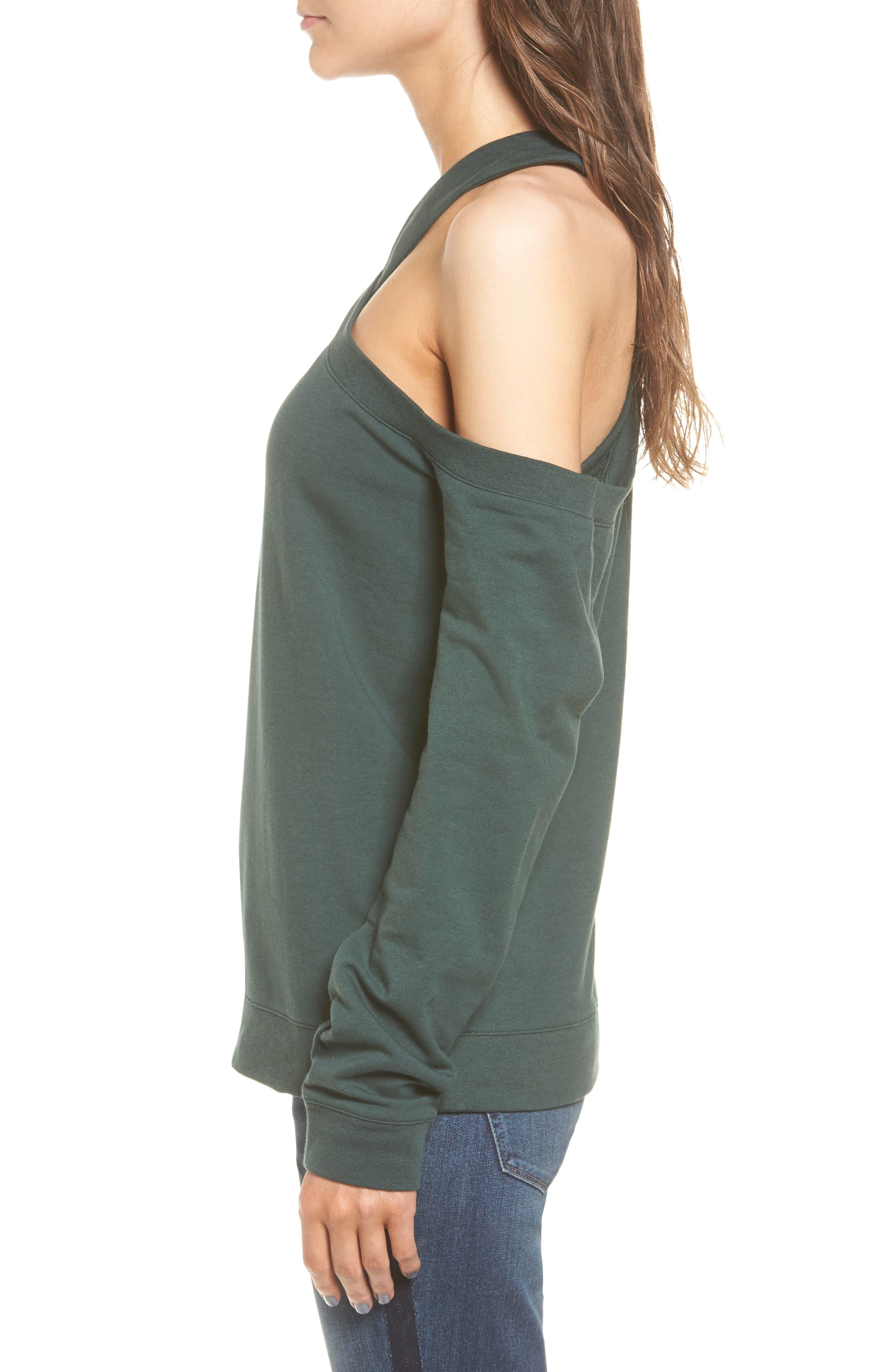 Alternate Image 4  - Treasure & Bond Asymmetrical Sweatshirt