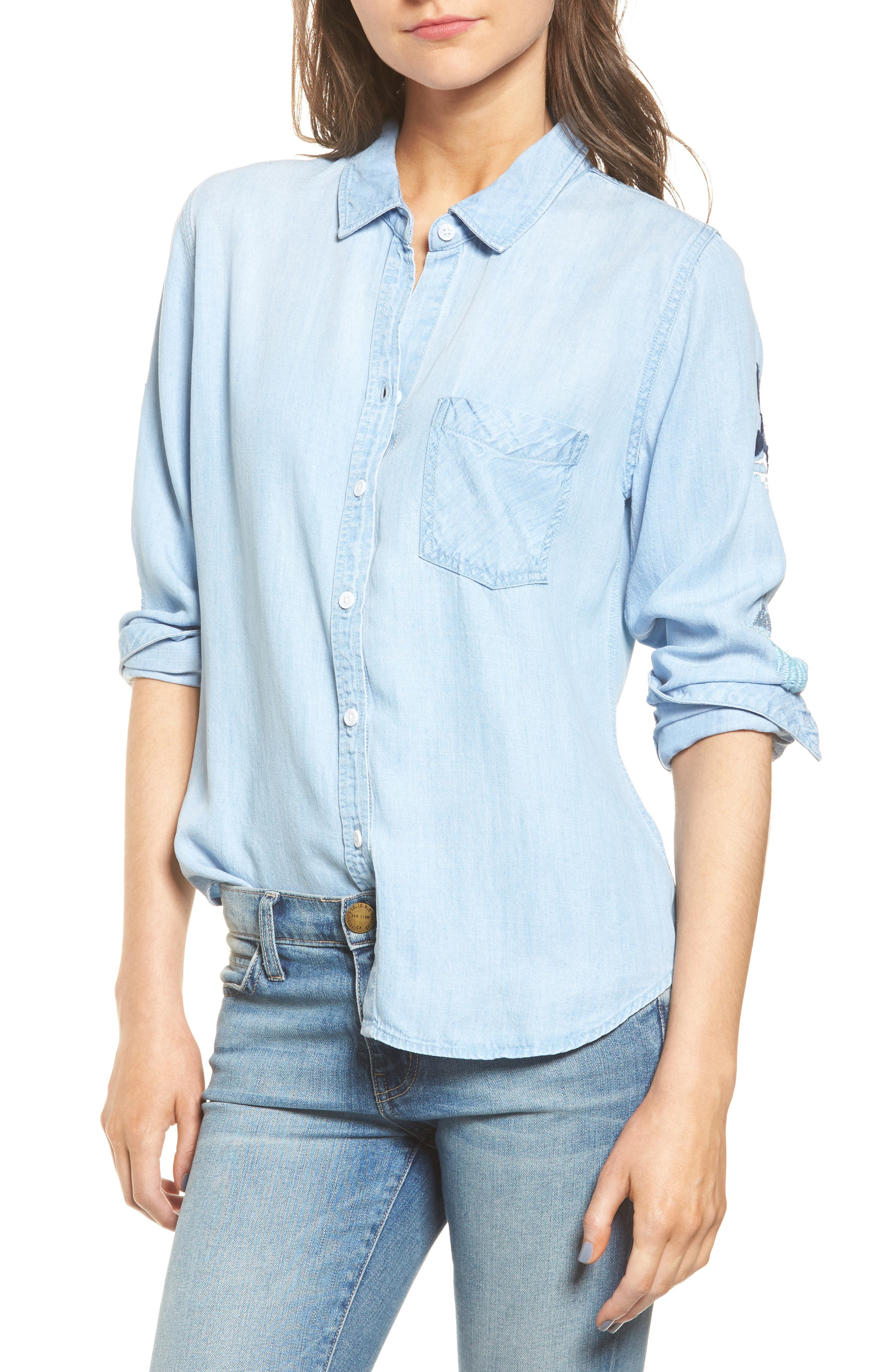 Rails Cheyanne Embroidered Chambray Shirt