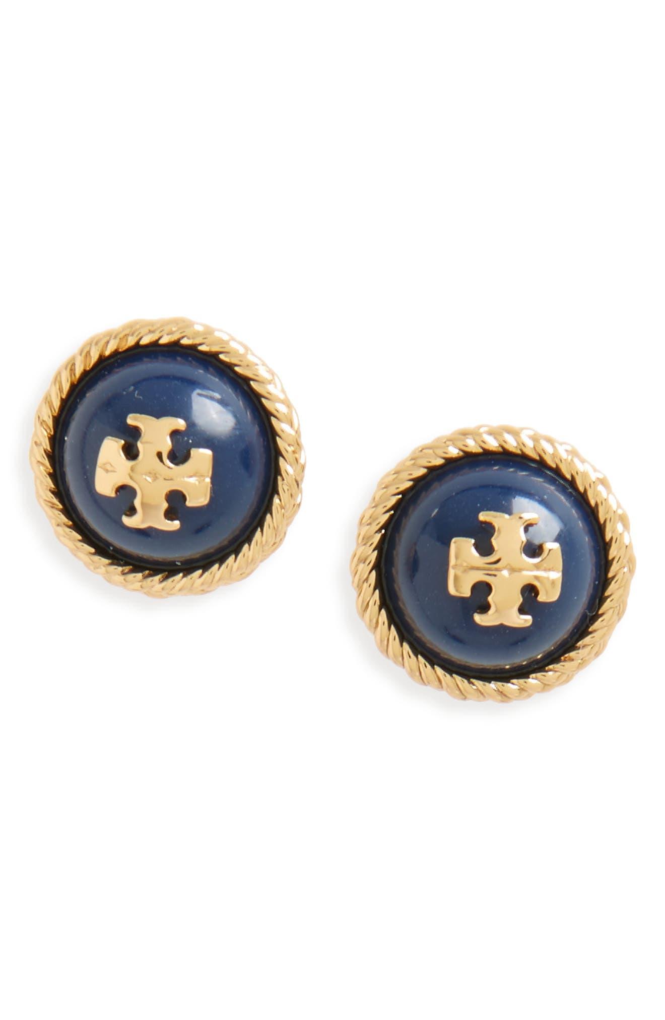 Alternate Image 1 Selected - Tory Burch Rope Stud Earrings