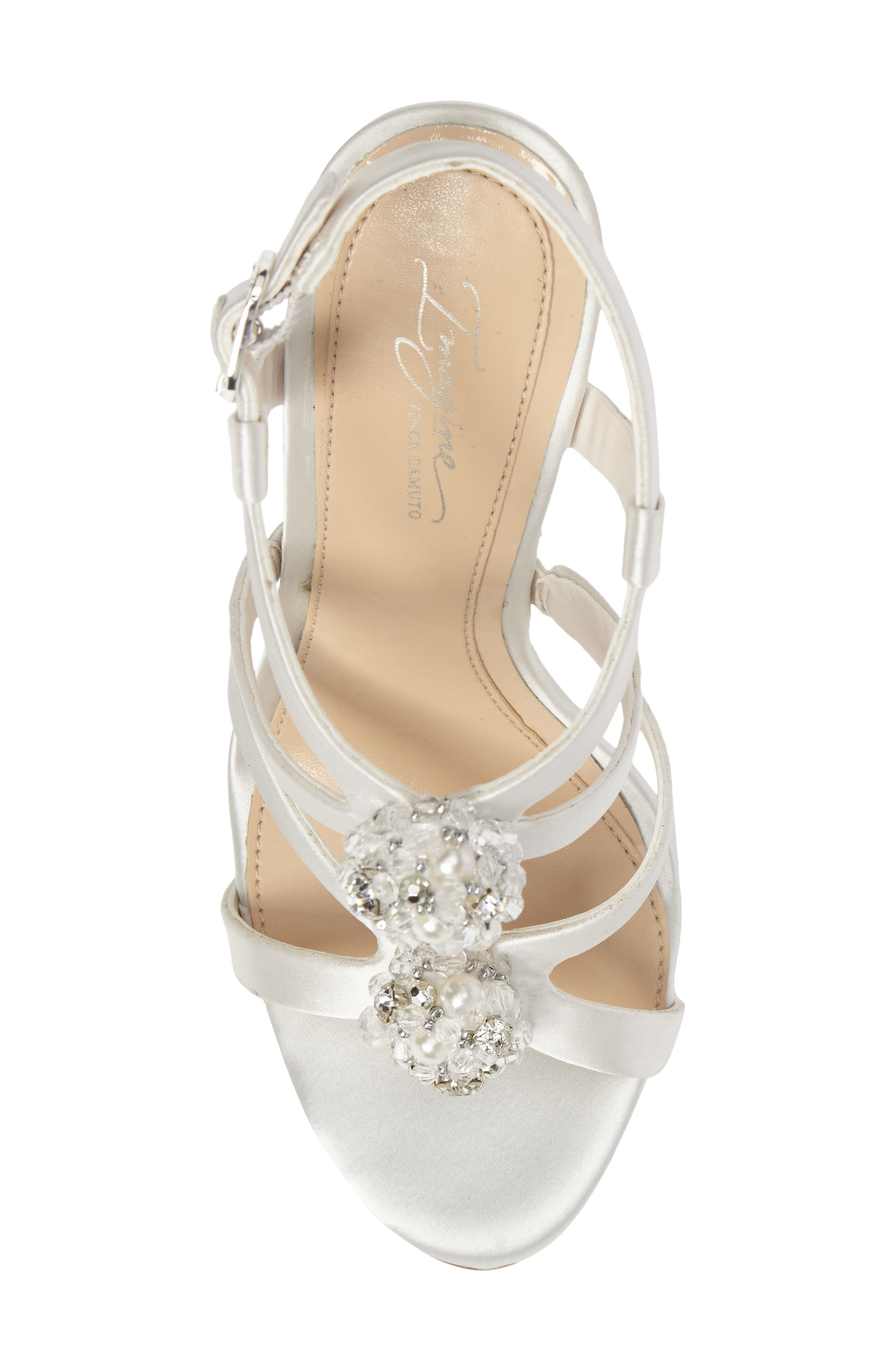 Daija Sandal,                             Alternate thumbnail 5, color,                             Ivory Satin