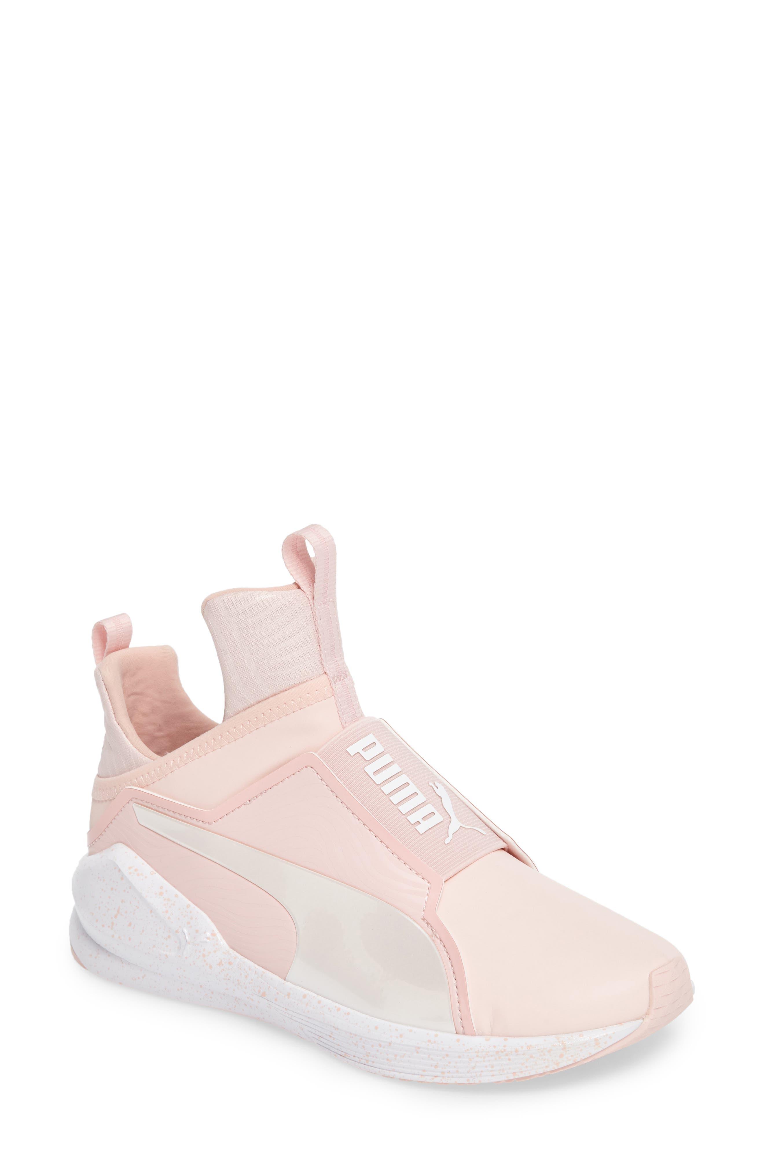 Fierce Bleached High Top Sneaker,                         Main,                         color, Veiled Rose/ Whisper White