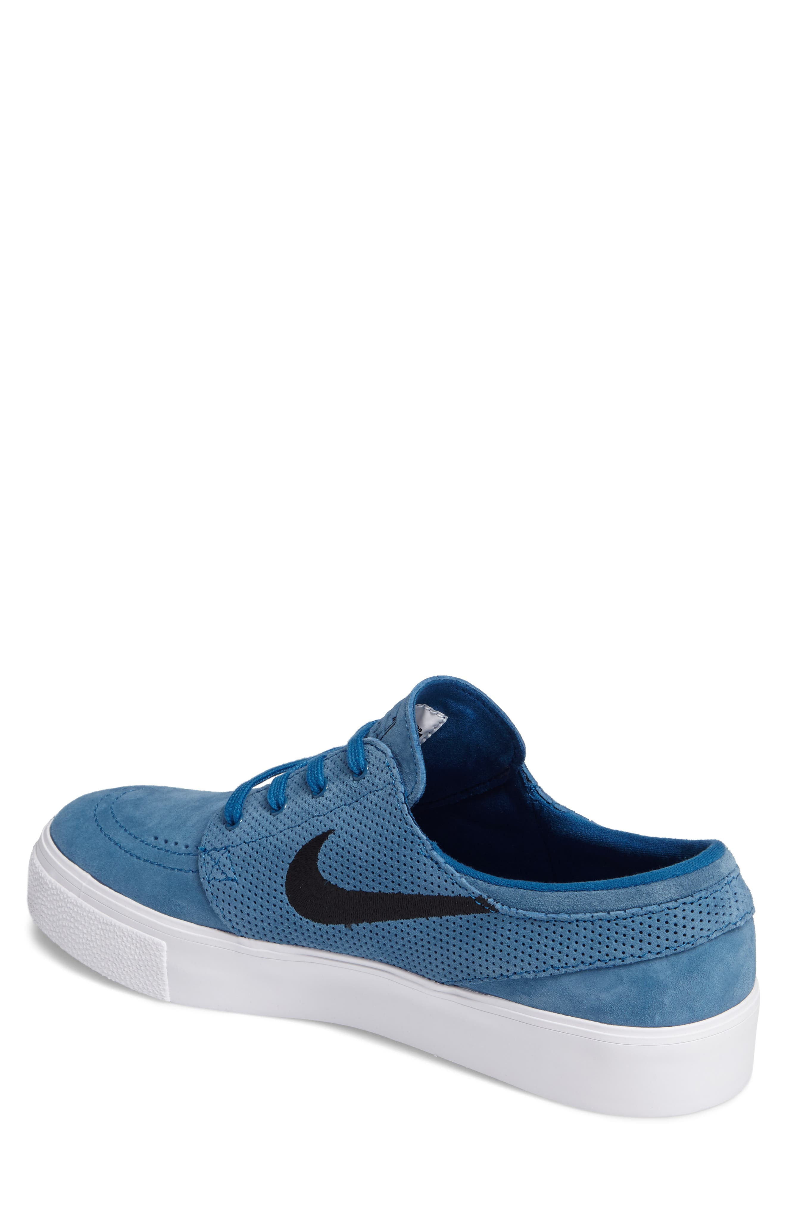 Zoom Stefan Janoski Premium Skate Sneaker,                             Alternate thumbnail 2, color,                             Industrial Blue/ Black