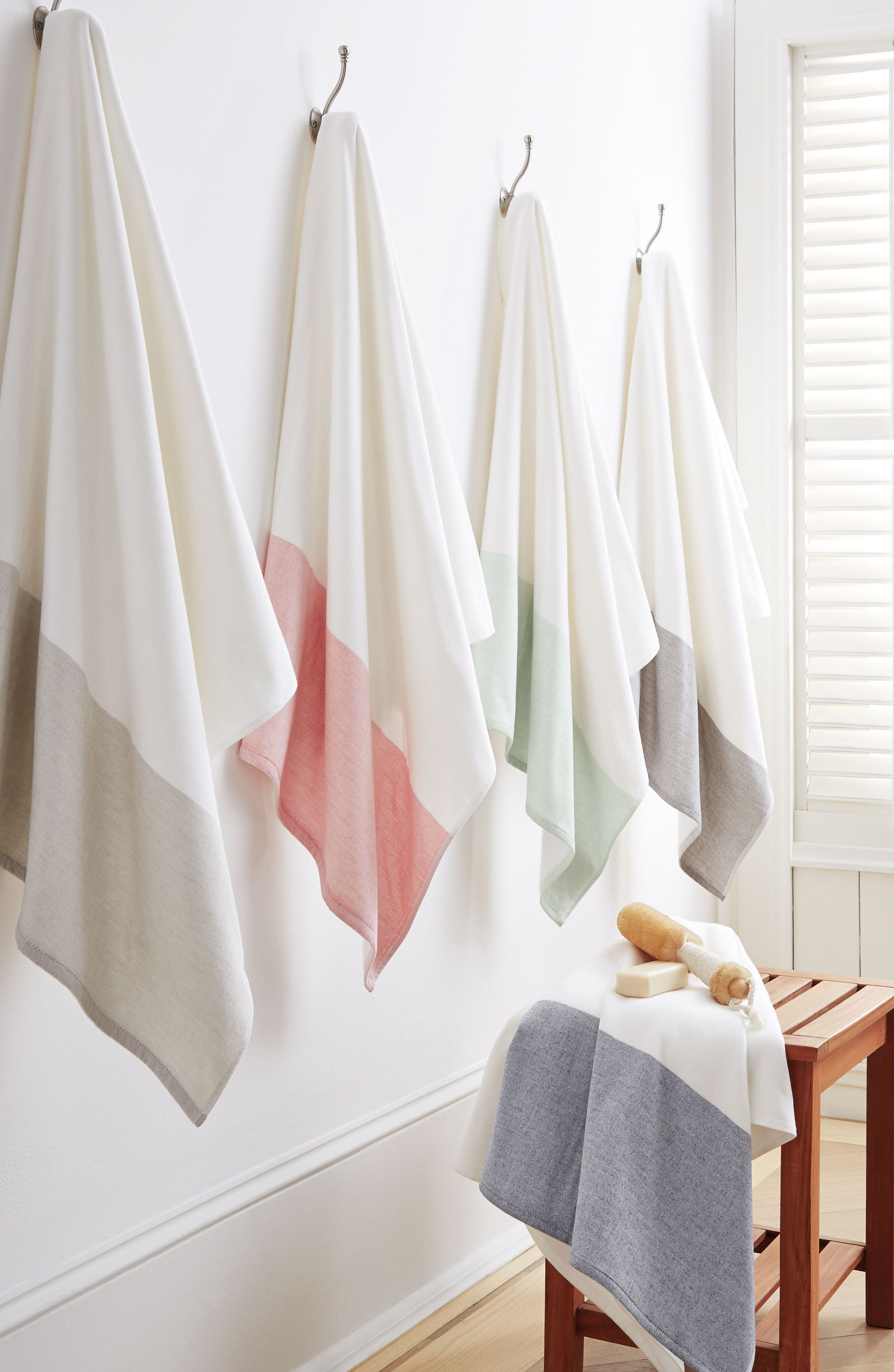 Greenwich Wash Towel,                             Alternate thumbnail 2, color,                             Indigo