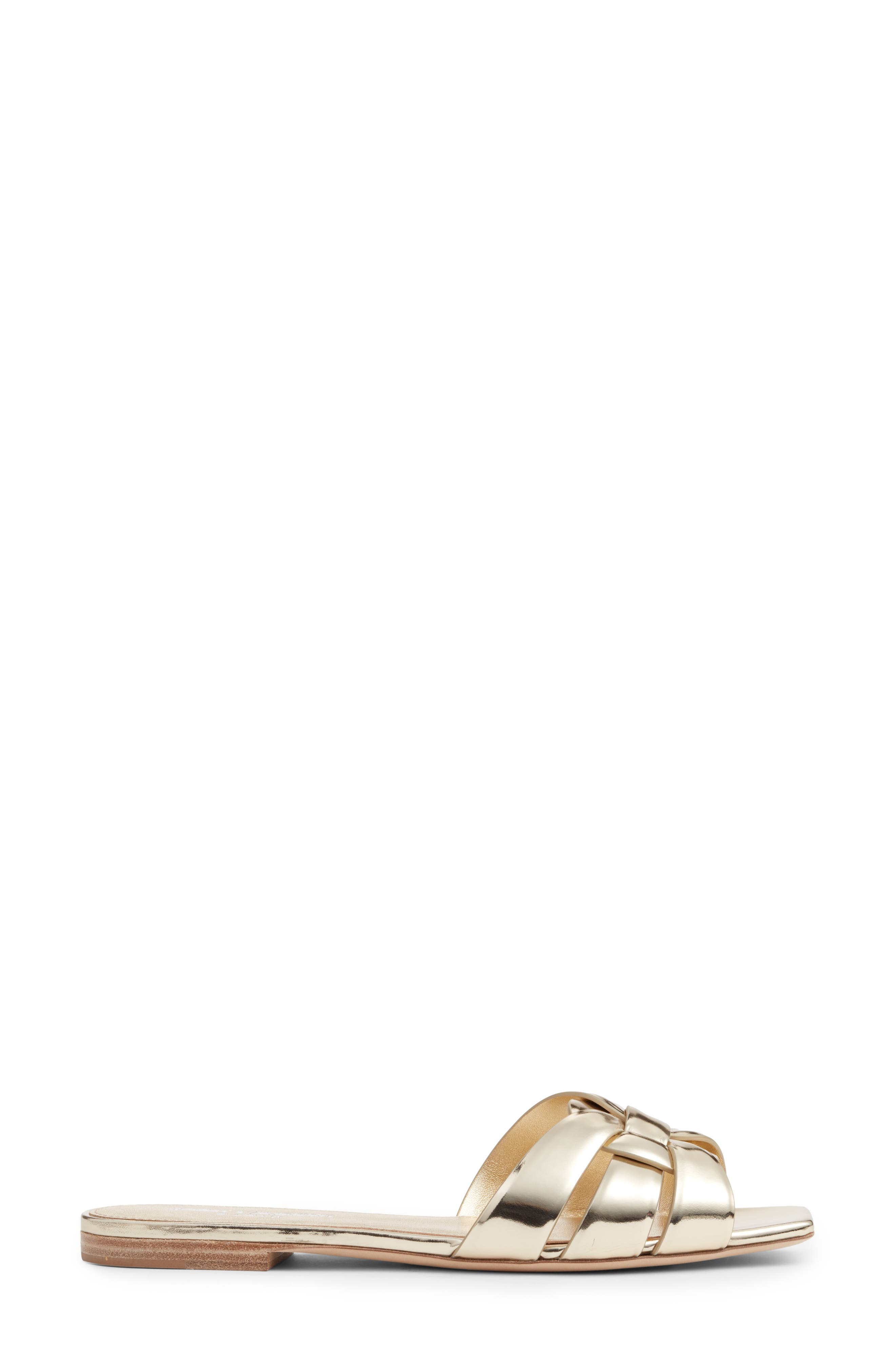 Tribute Slide Sandal,                             Alternate thumbnail 3, color,                             Metallic Gold