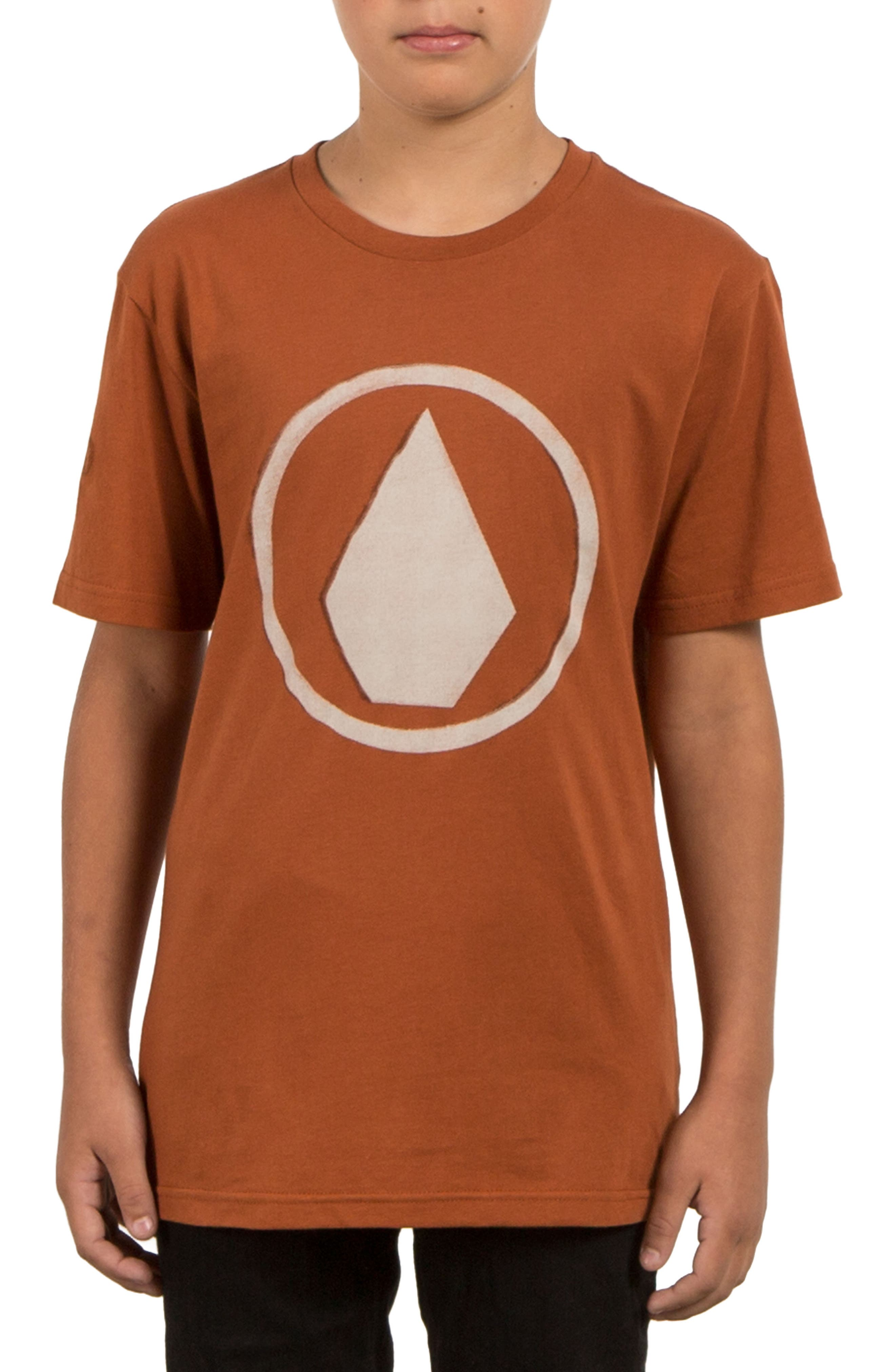 Alternate Image 1 Selected - Volcom Burnt Graphic T-Shirt (Big Boys)