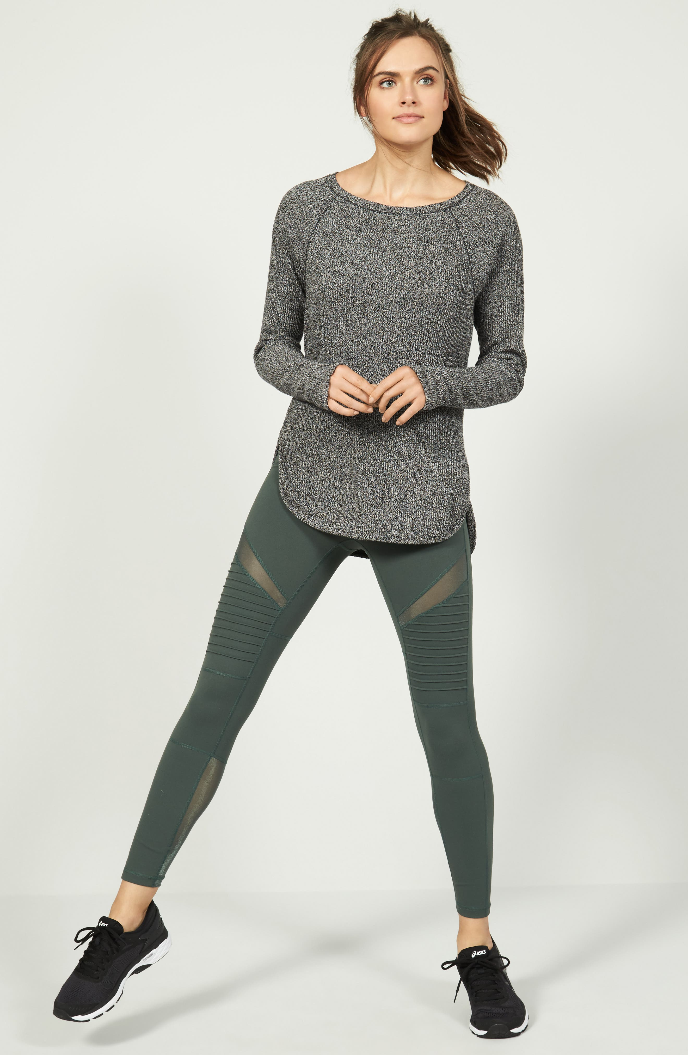 Zella Sweater & Leggings Outfit with Accessories