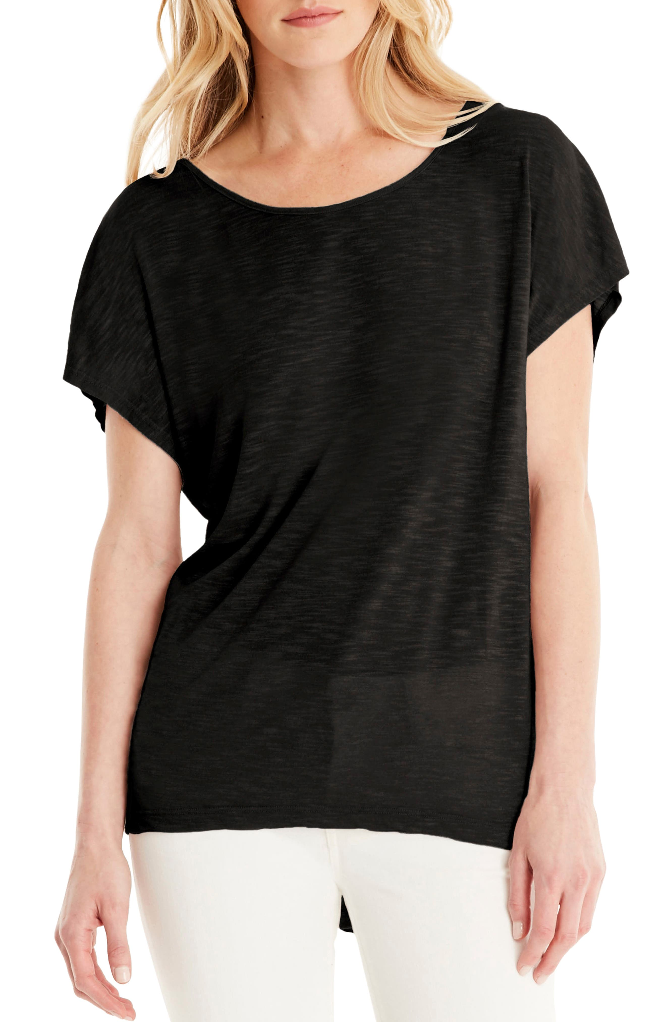 Layered Tee,                         Main,                         color, Black