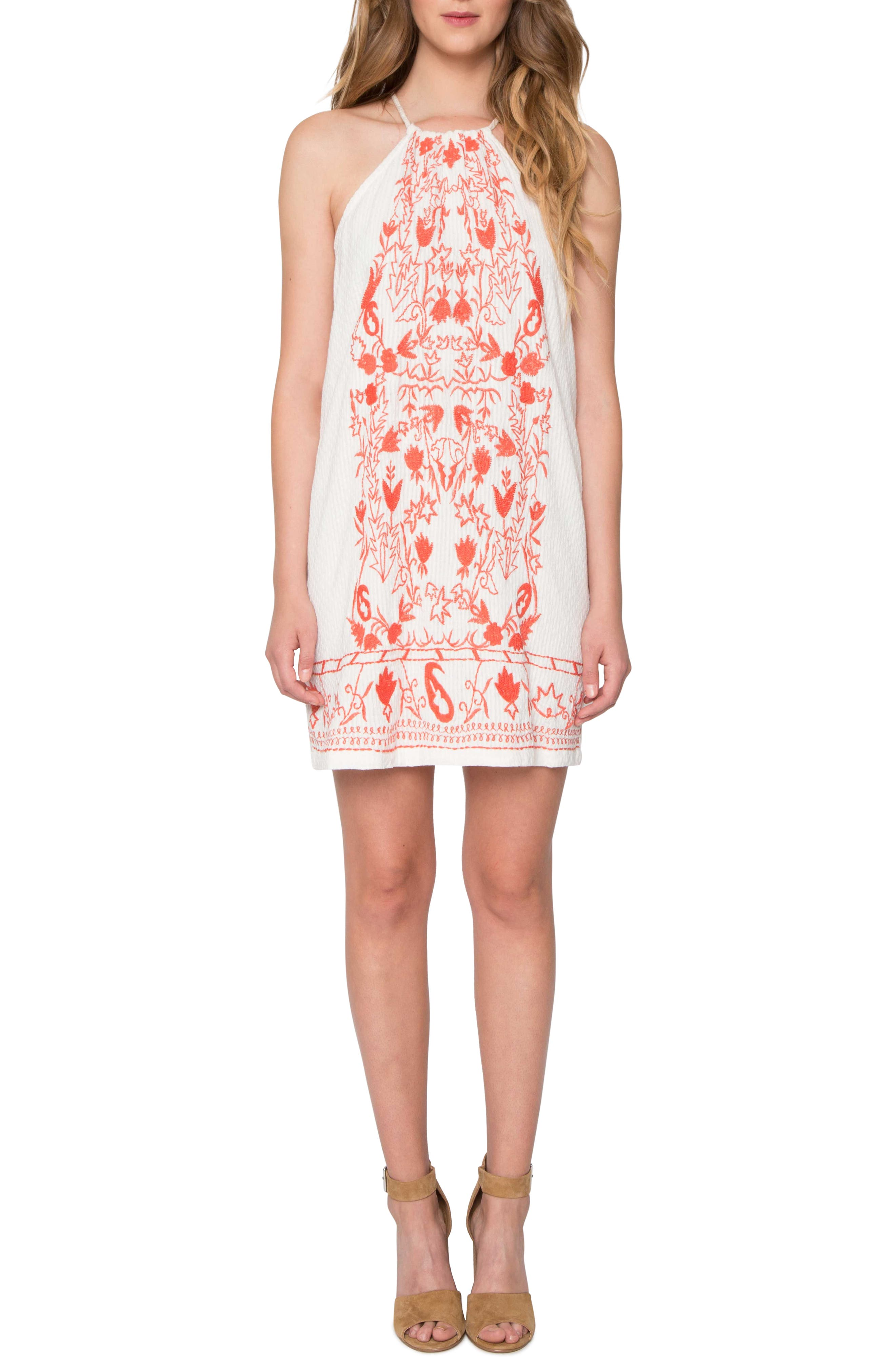 Willow & Clay Embroidered Cotton Minidress